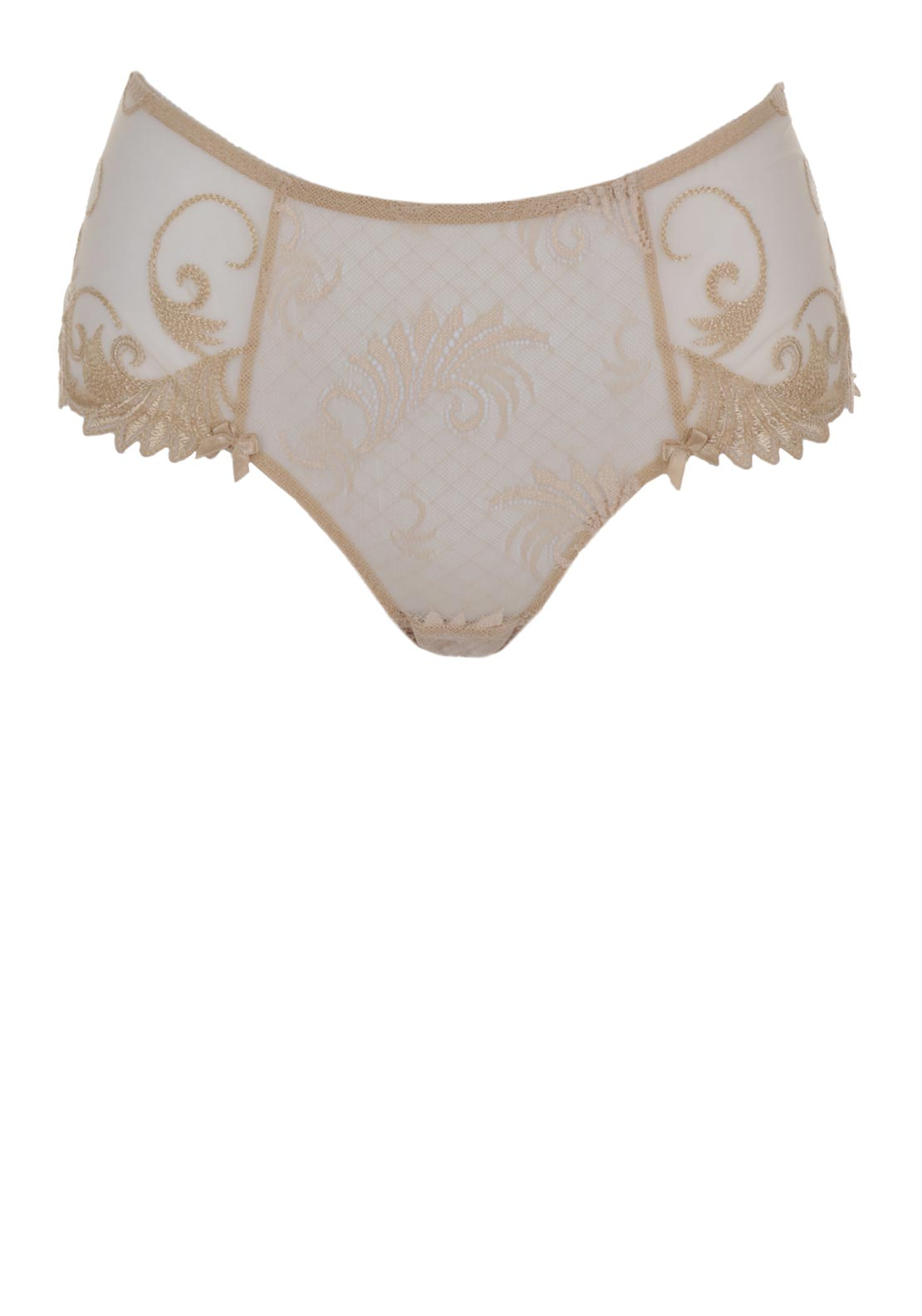 Empreinte Thalia Embroidered Lace Shorty Brief, Caramel