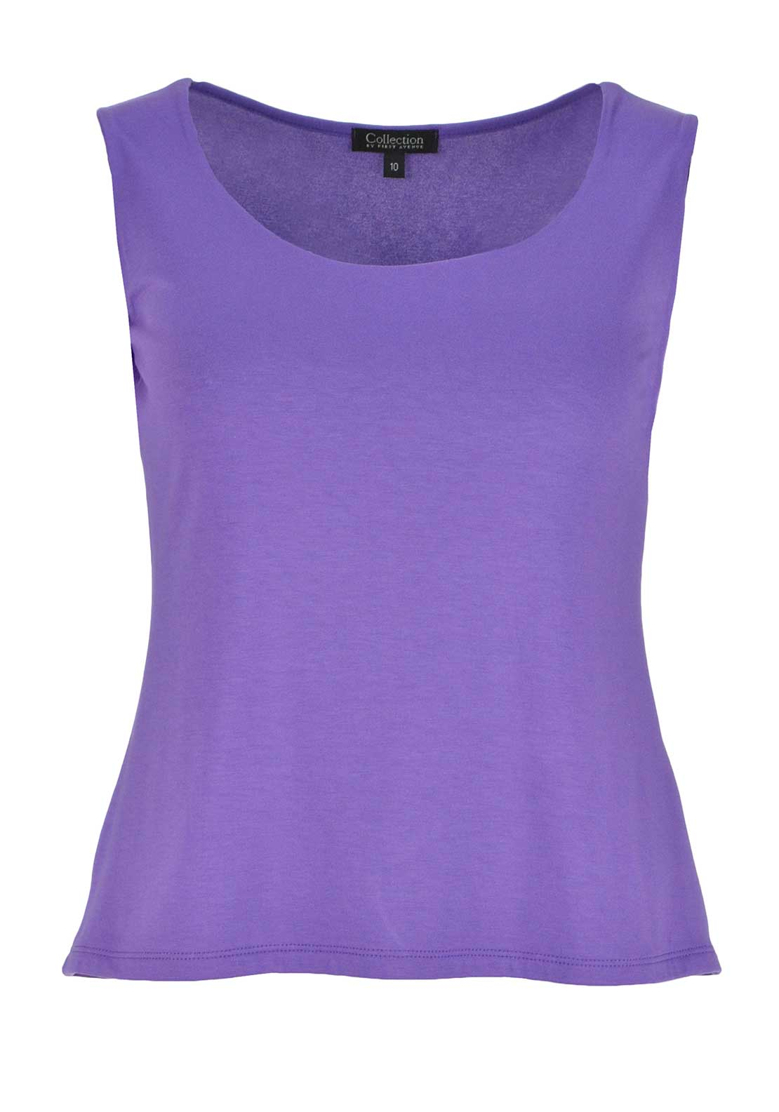 Collection by First Avenue Sleeveless Vest Top, Purple