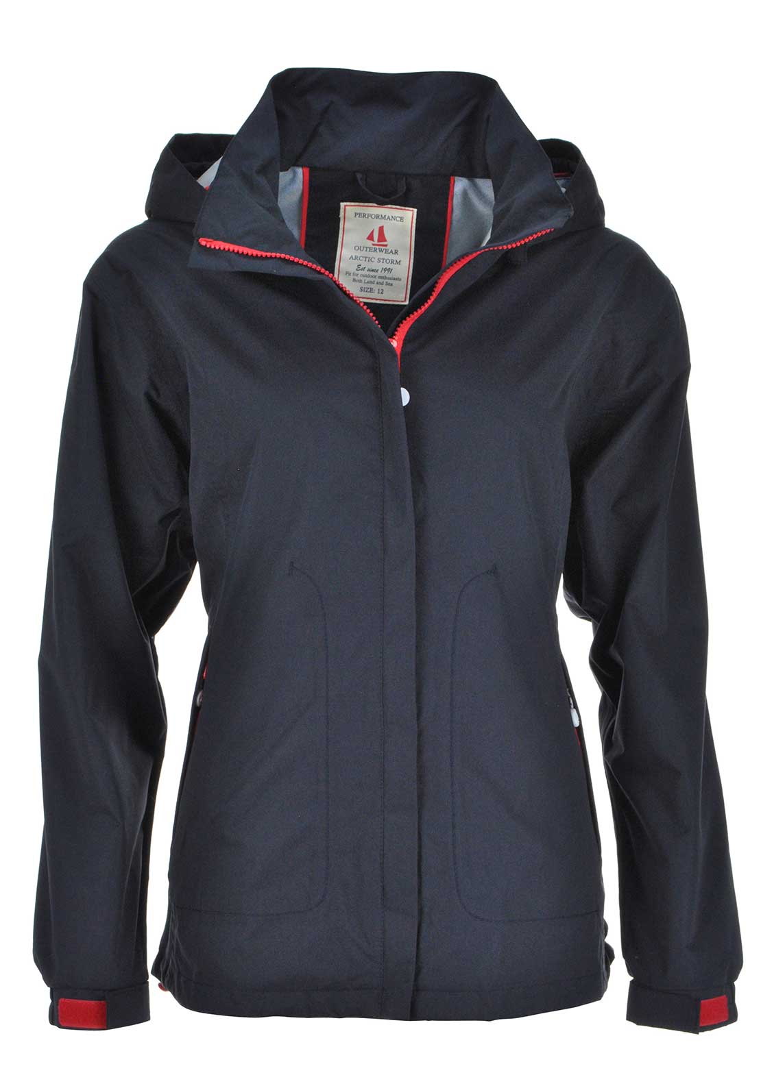 First Avenue Millbrook Hooded Anorak Jacket, Navy