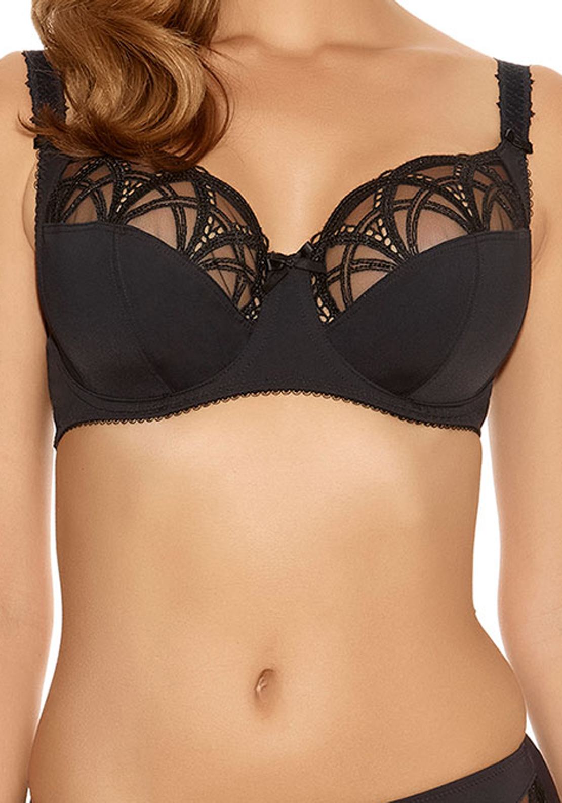 Fantasie Alex Lace Trim Underwired Bra, Black