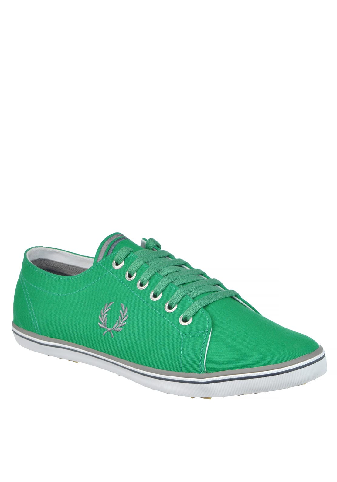 Fred Perry Mens Kingston Twill Shoe, Green