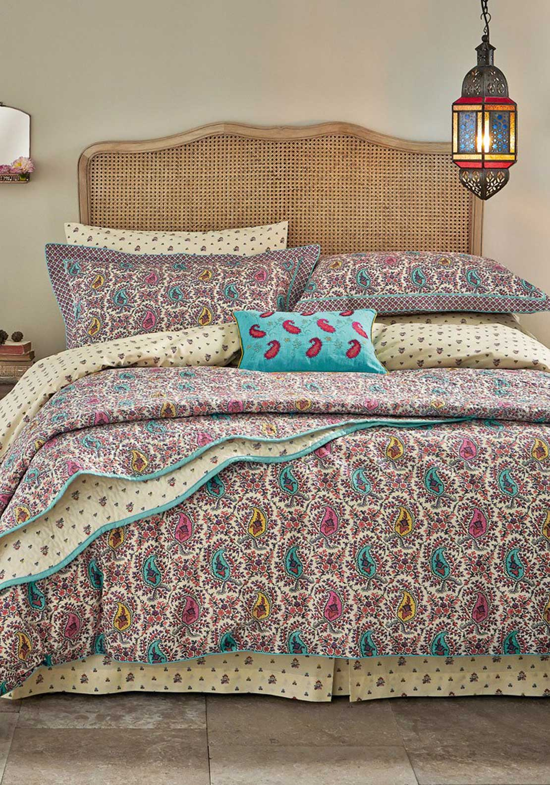V & A Kashmir Fitted Sheet, Multi-Coloured
