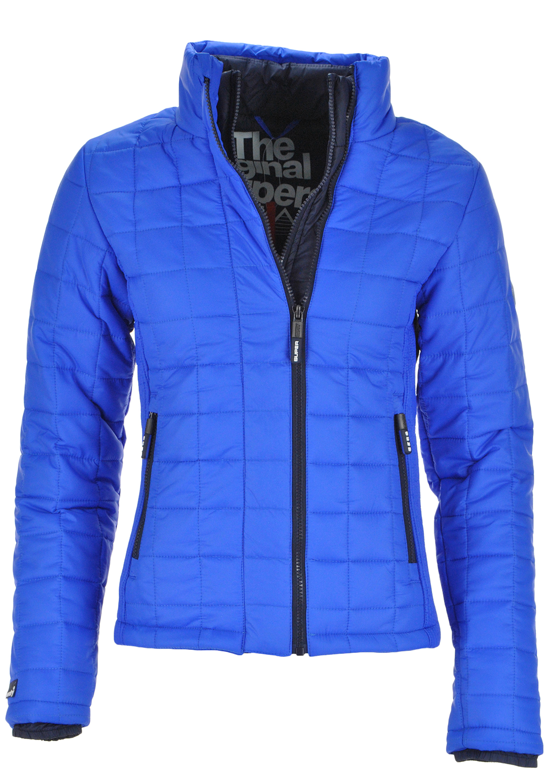 Superdry Womens Box Quilt Fuji Jacket, Blue
