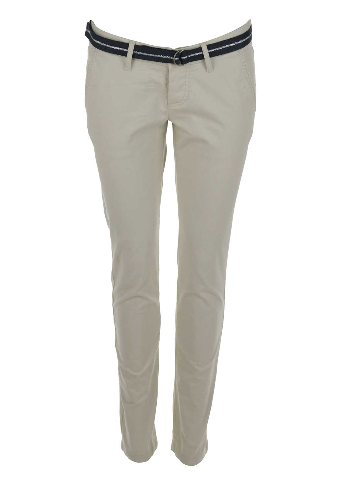 Superdry Womens International Sweet Belted Chinos, Beige