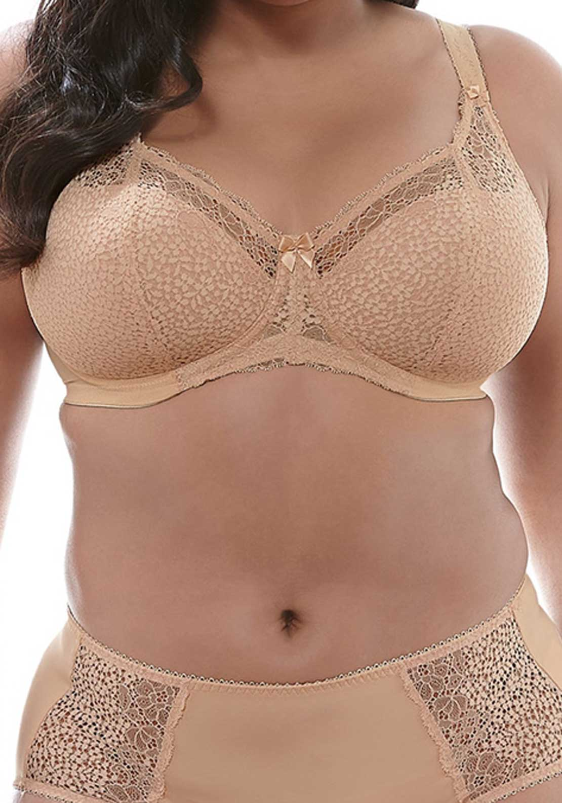Goddess Bra Michelle Lace Full Cup Underwired Bra, Nude