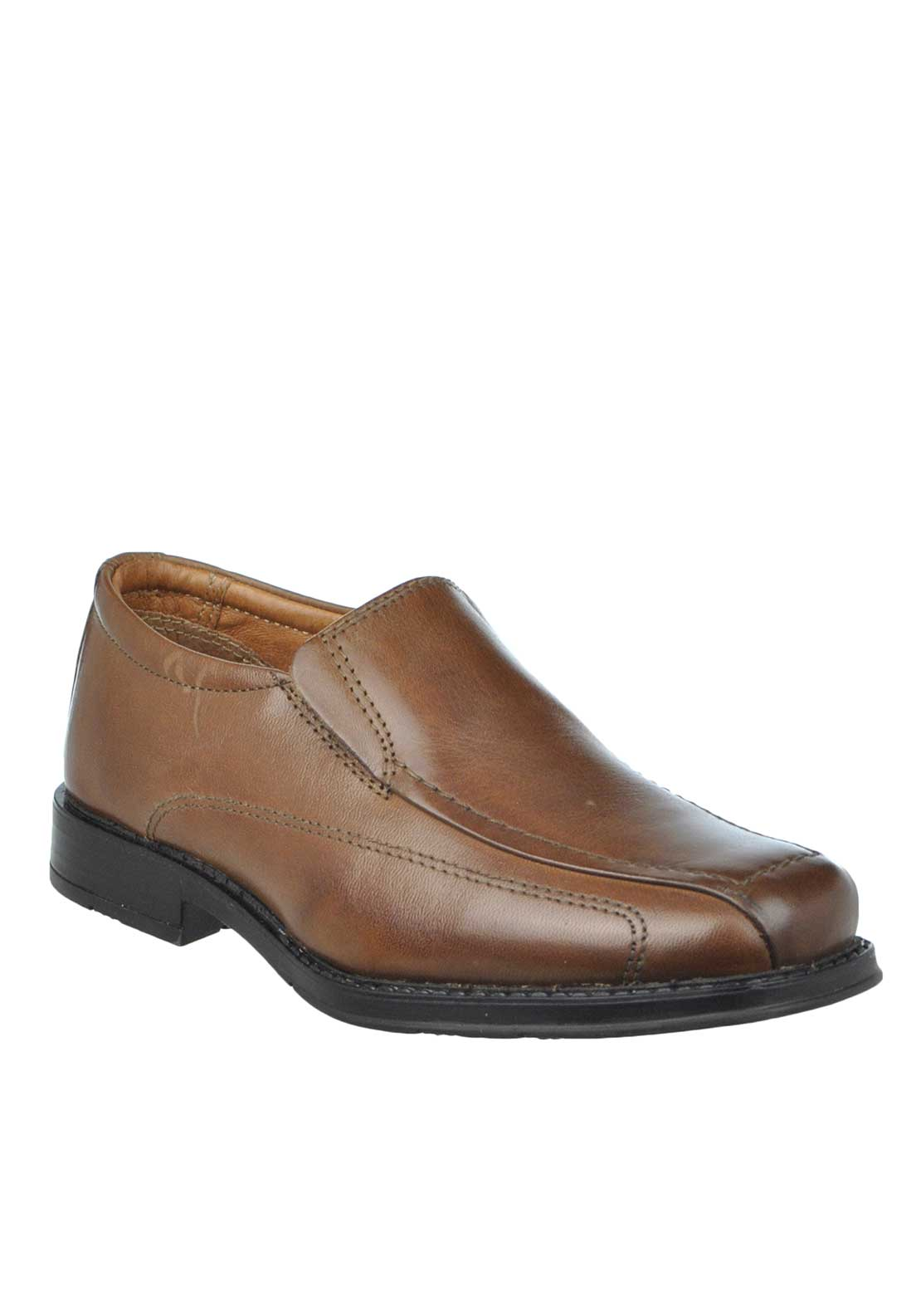 Dubarry Boys Geff Leather Slip On Loafer Shoes, Brown