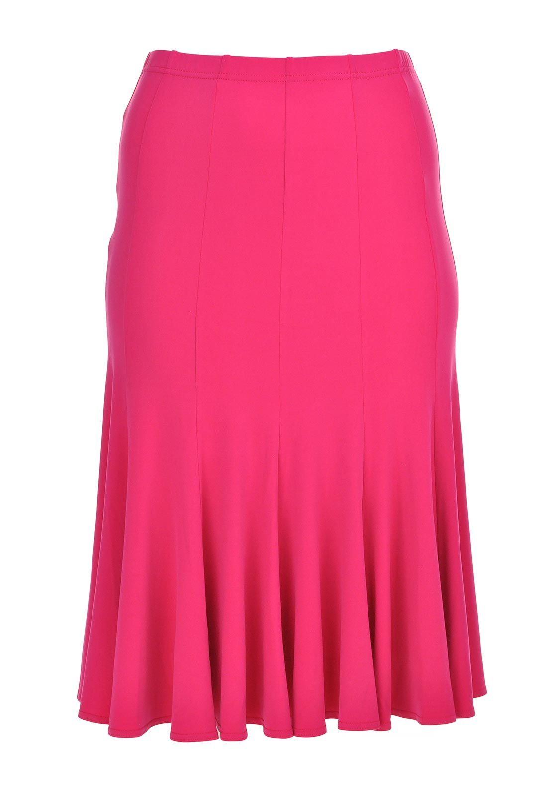 Georgede A-Line Midi Length Skirt, Fuschia Pink