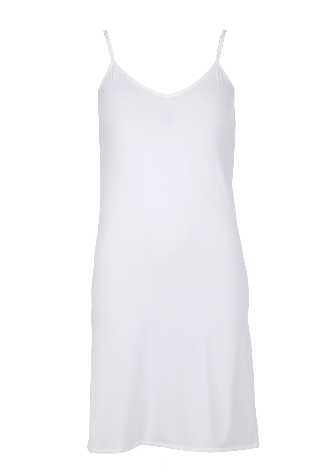 Gaspé V-Neck Slip, White
