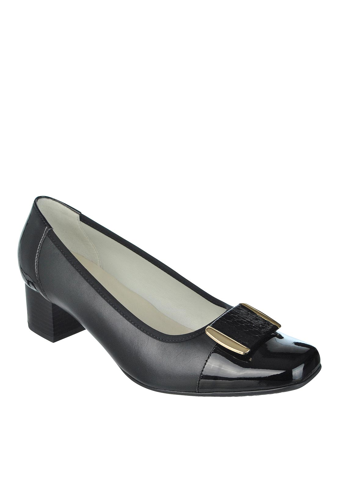 Dubarry Womens Hanson Leather & Patent Shoe, Black