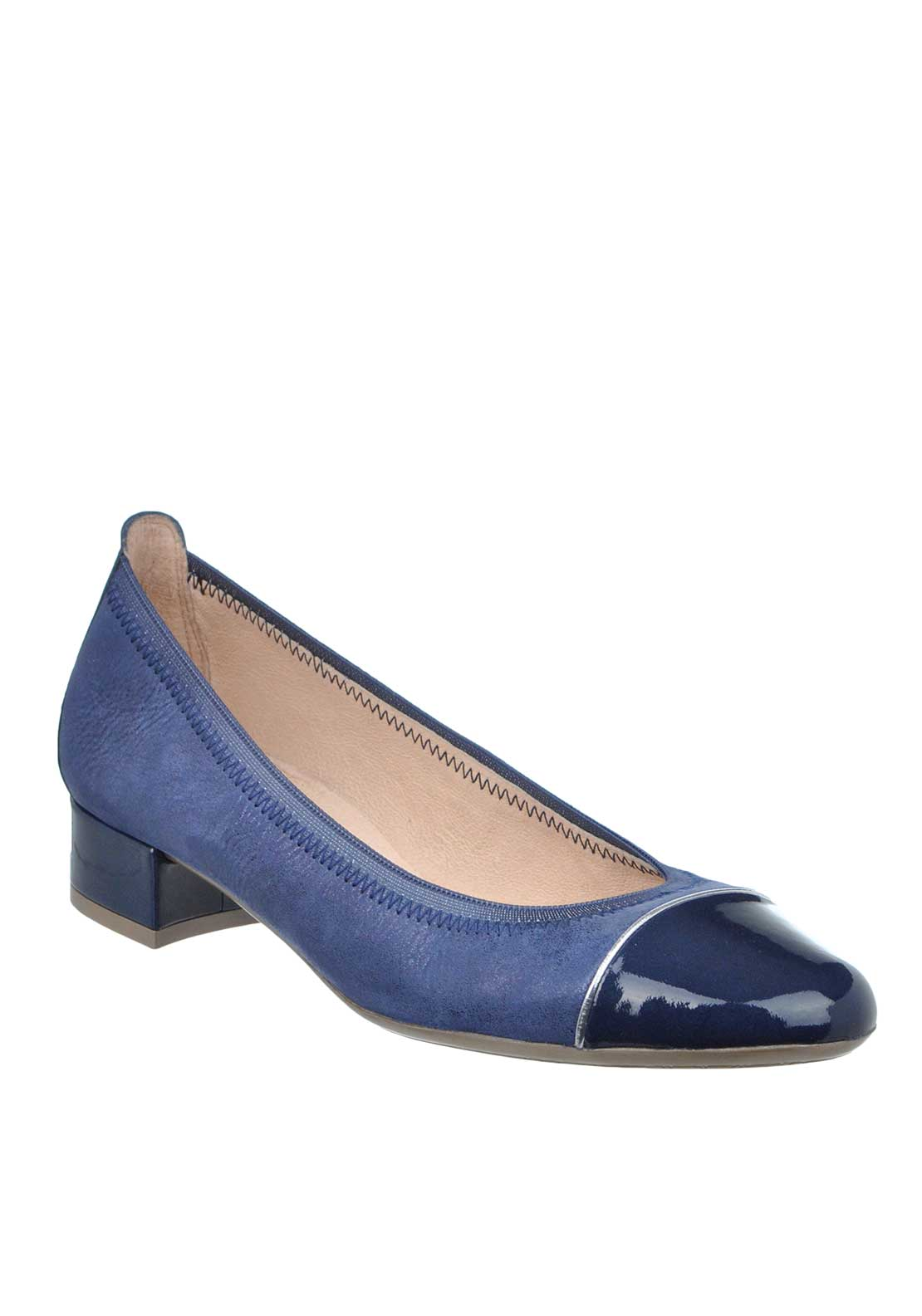 Hispanitas Shimmering Leather Heeled Pumps, Jeans