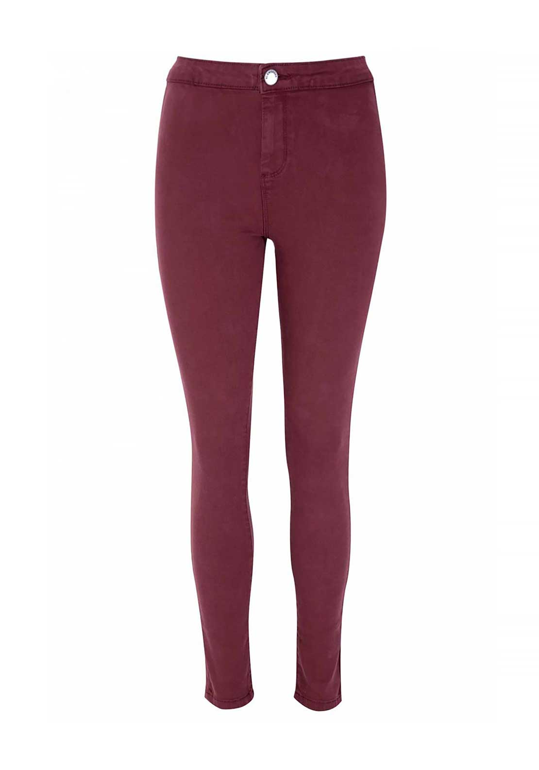Glamorous Stretch Jeggings, Burgundy