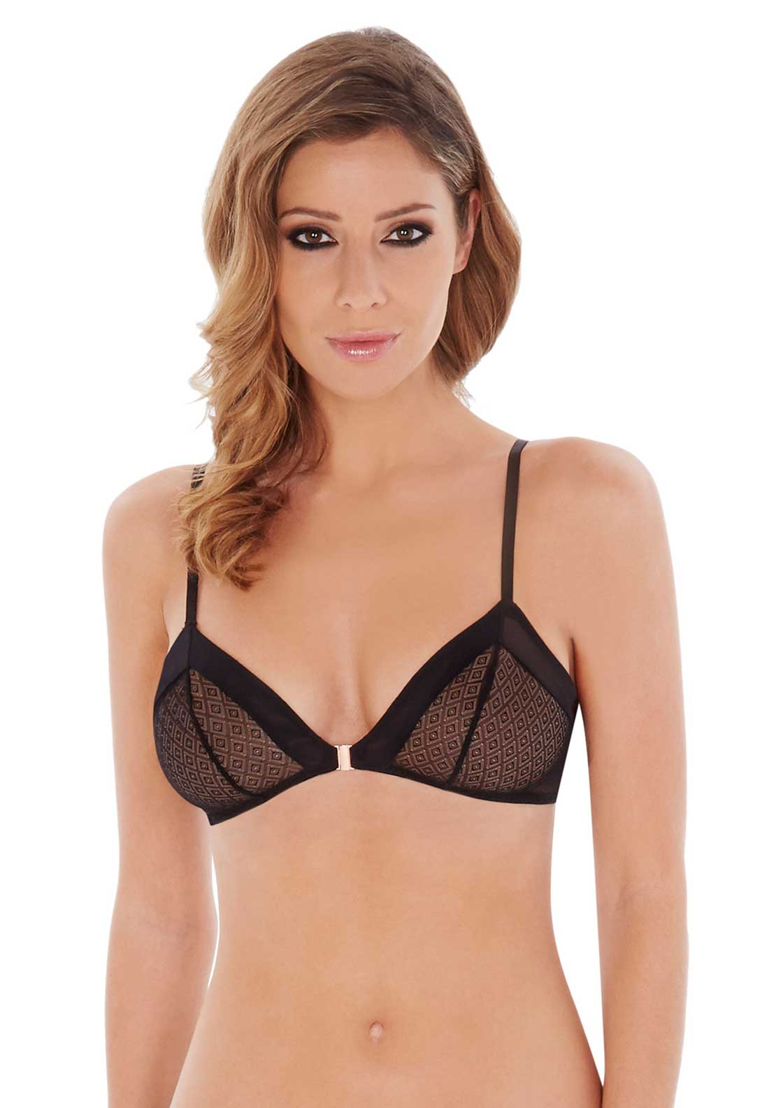 Lepel Chelsea Diamond Triangle Bra, Black