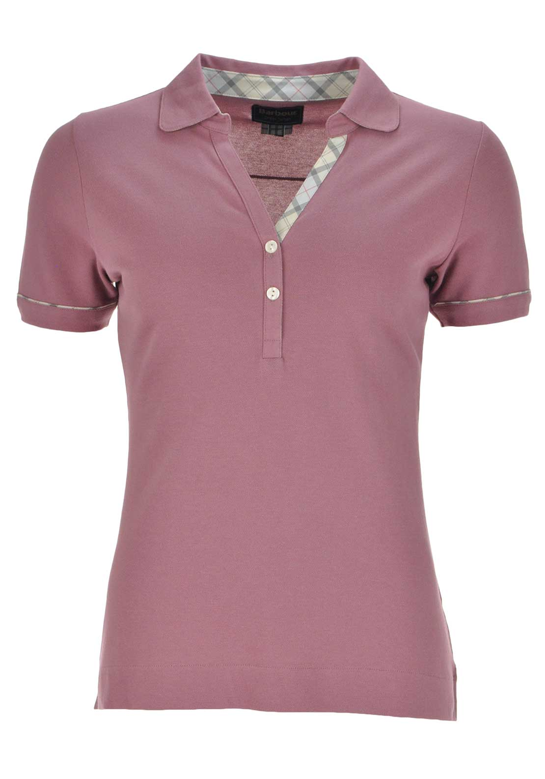 Barbour Womens Alasdair Short Sleeve Polo Shirt, Ice Rose Pink