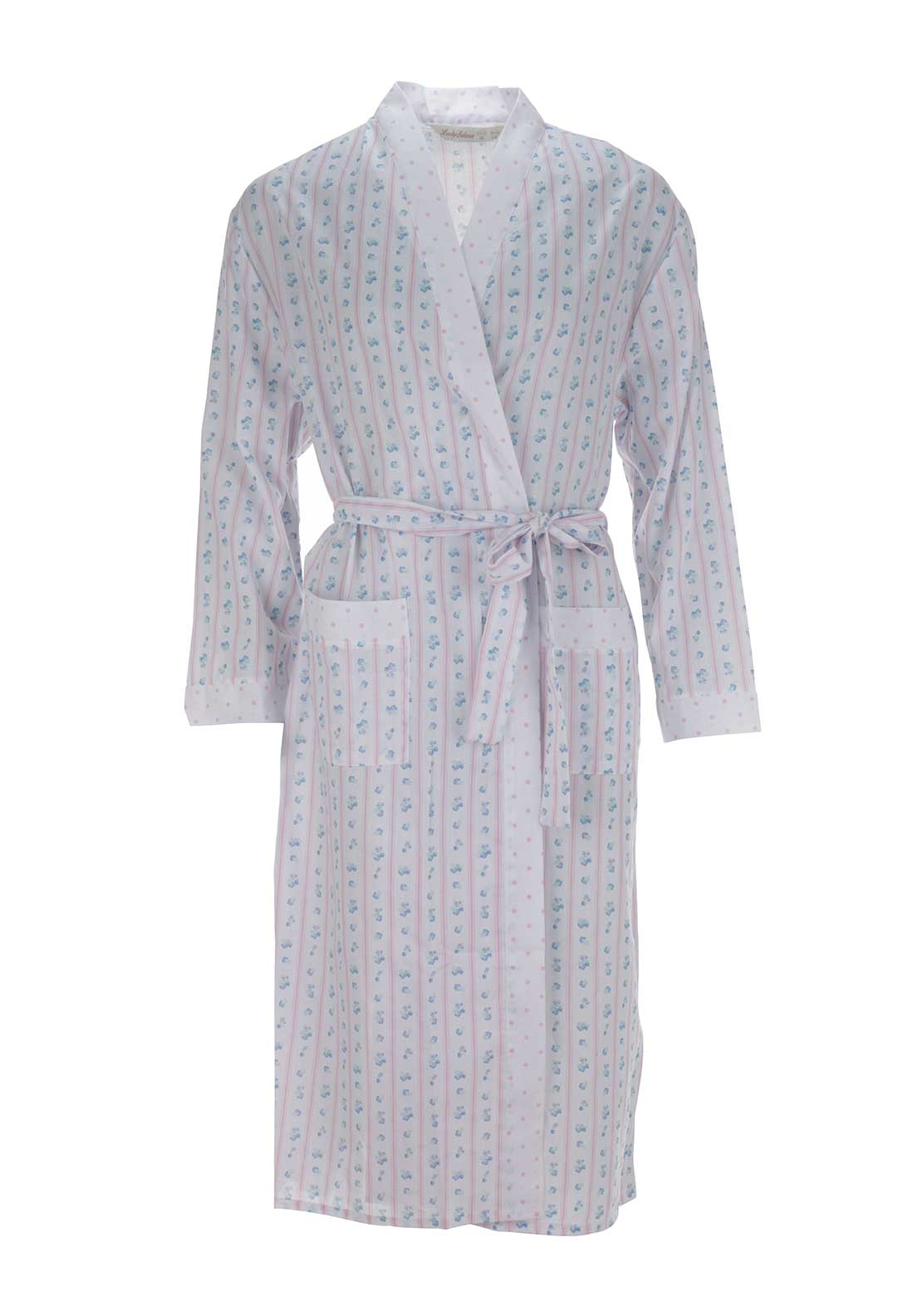 Lady Selena Floral Print Dressing Gown, Pink Multi