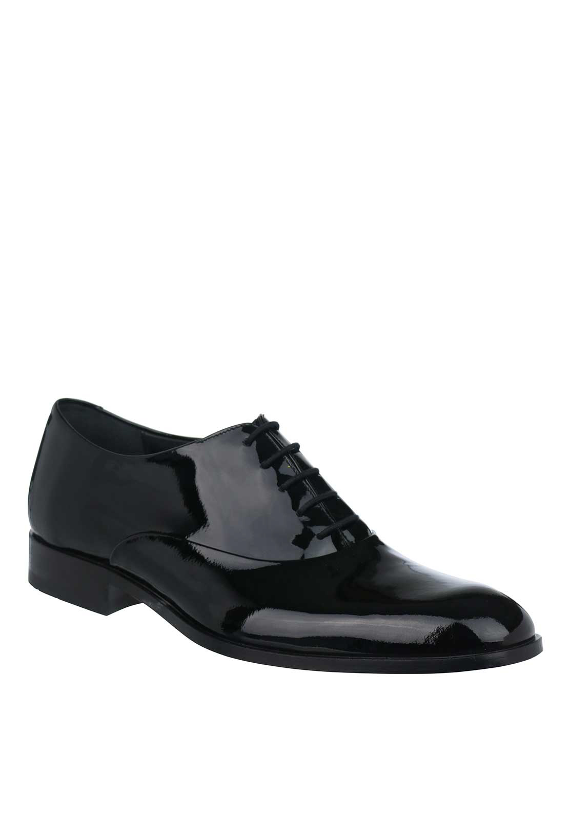 Loake Patent Leather Lace Up Formal Shoe, Black