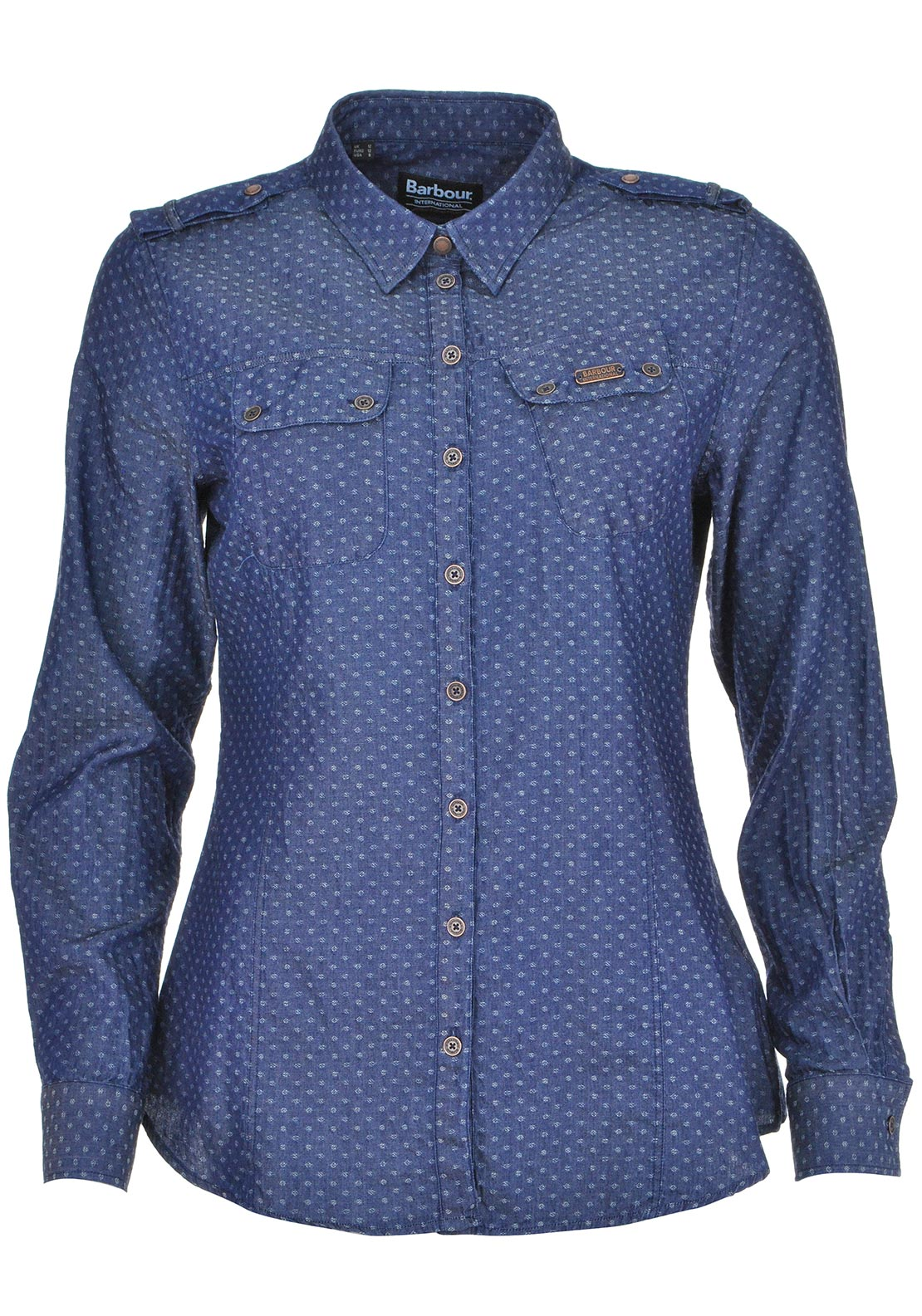 Barbour International Womens Bana Vie Denim Shirt, Denim Blue