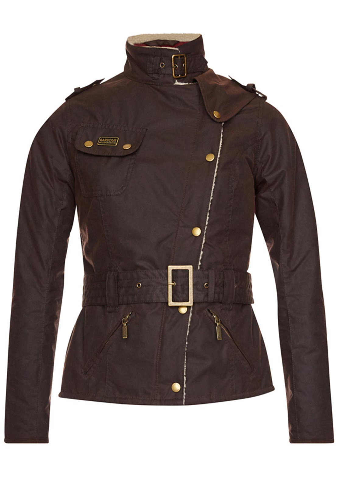 Barbour International Womens Matlock Waxed Jacket, Brown