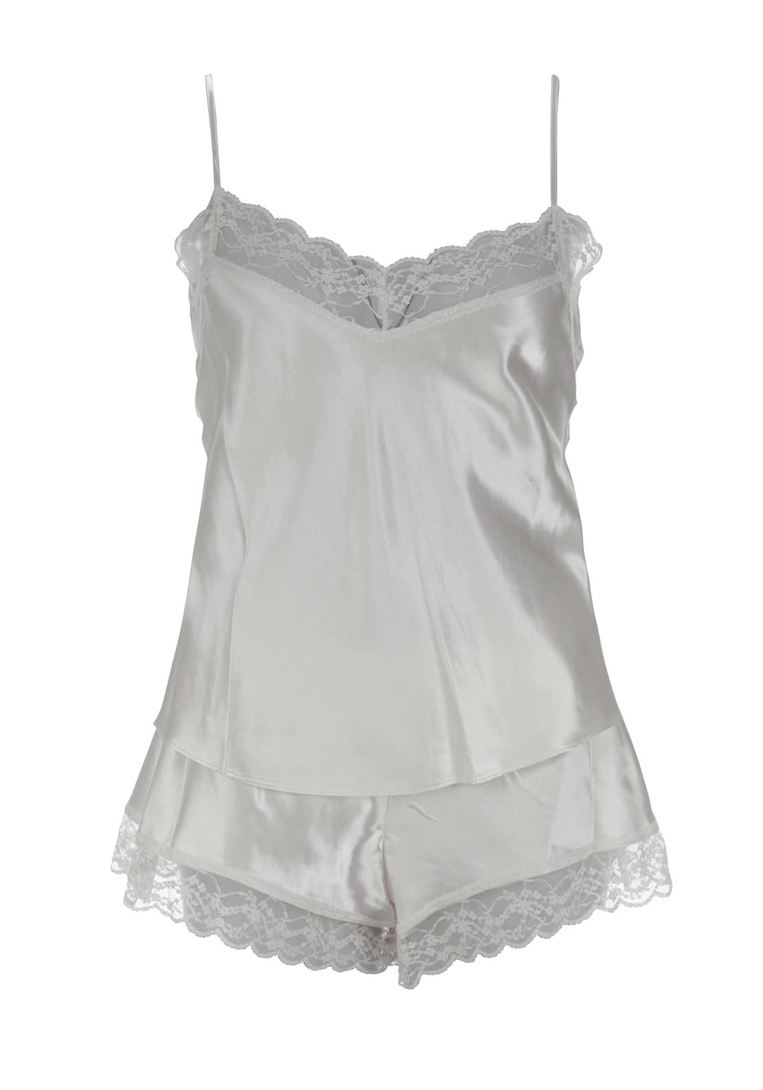 Marlon Chemise and Short Set, Ivory