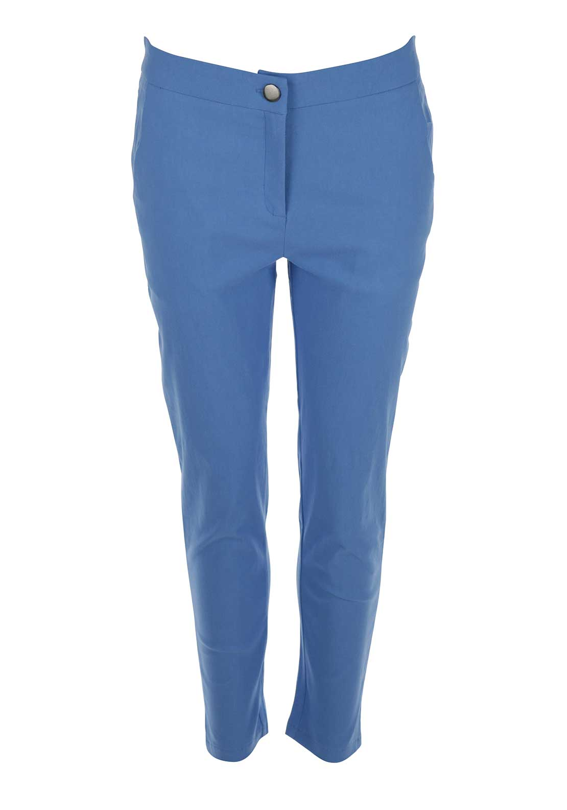 Boutique Tapered 7/8 Trousers, Blue