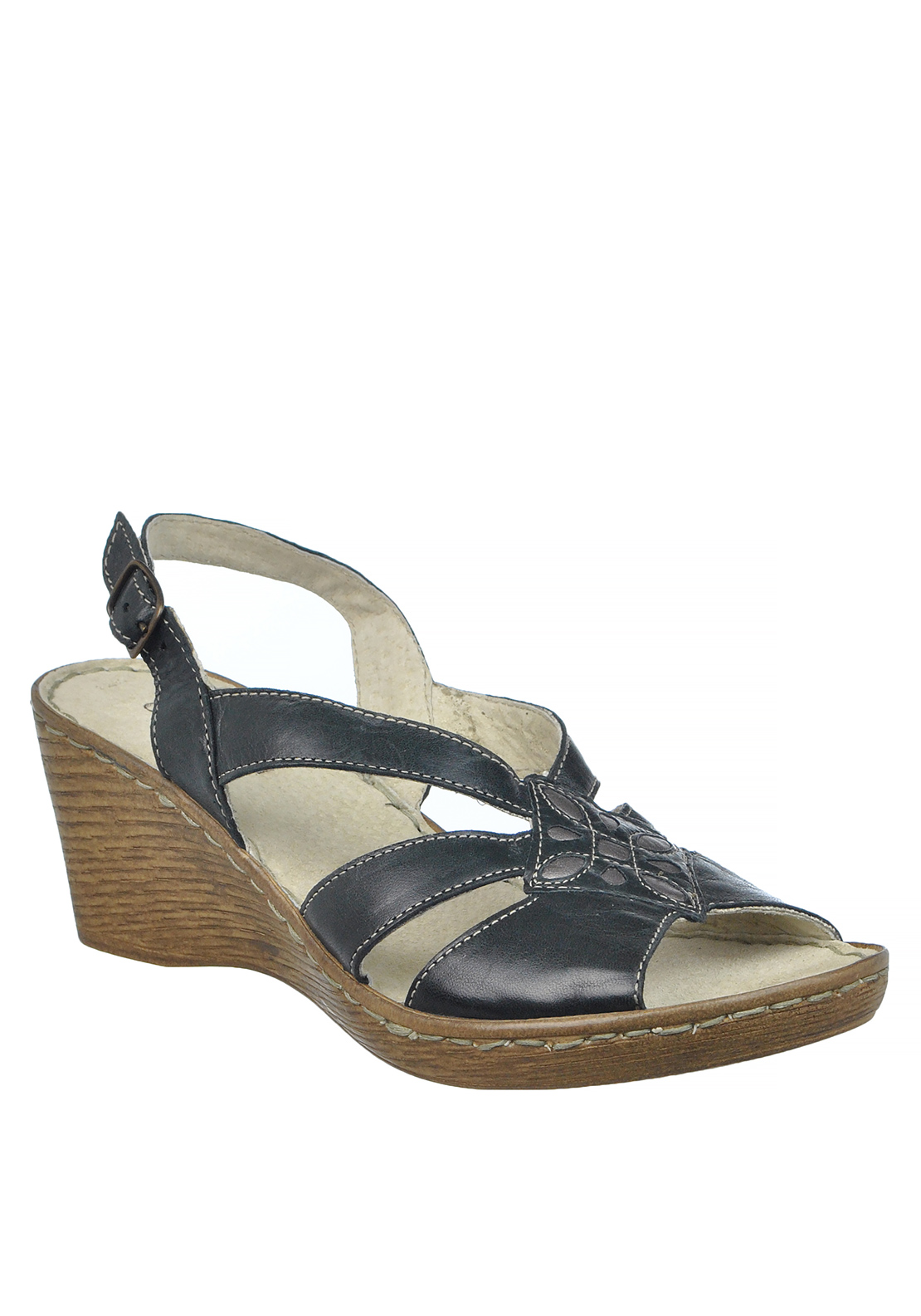 Dubarry Womens Marlon Wedged Sandals, Black