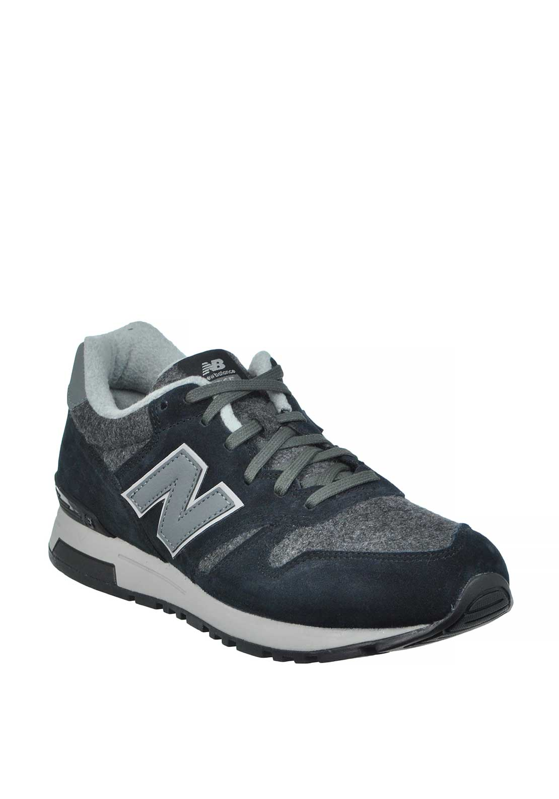 New Balance Mens 565 Fashion Runners, Black and Grey