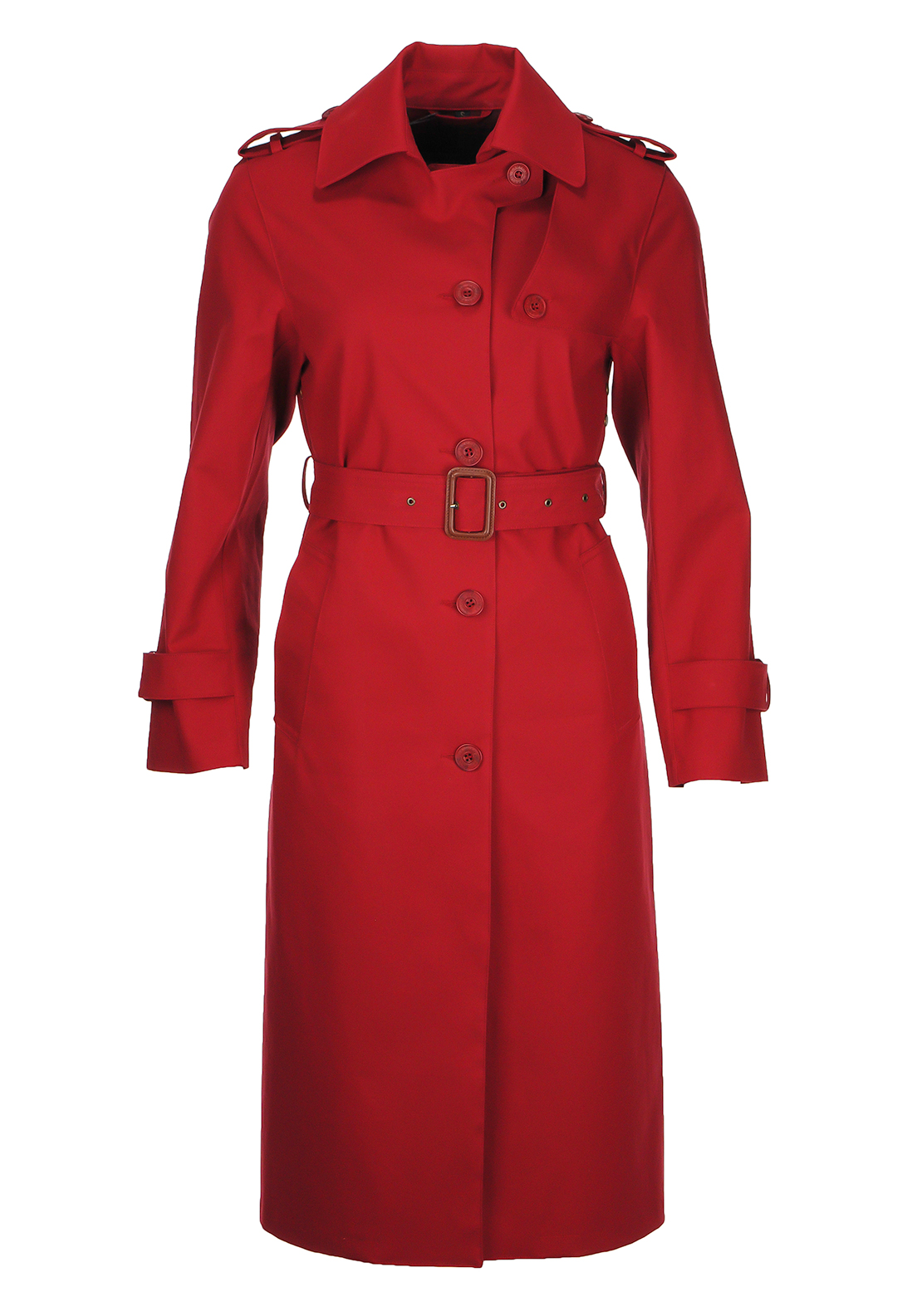 Mackintosh Rainwear Mac Coat, Red
