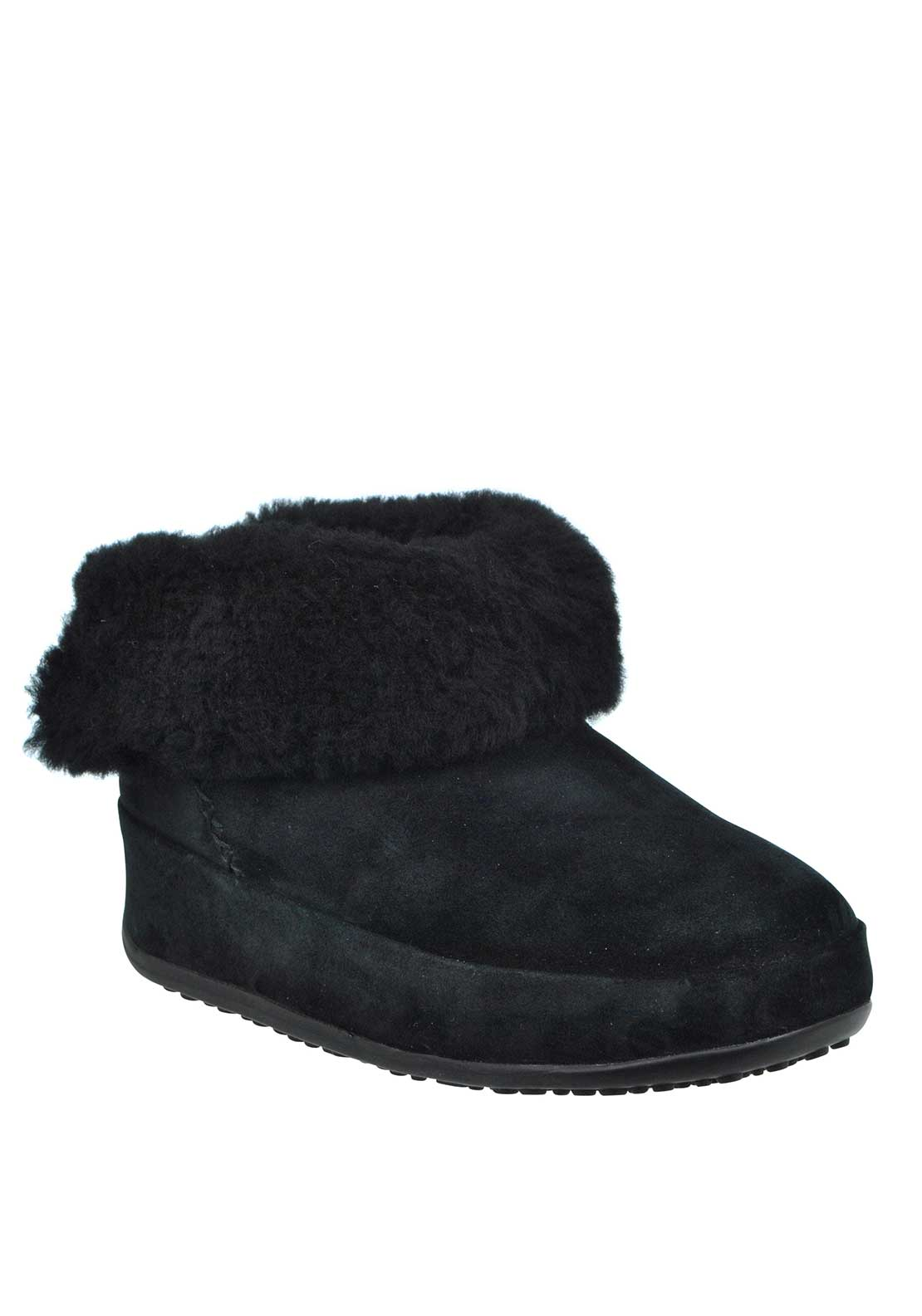 Fit Flop™ Mukluk™ Suede Shorty Boots, Black