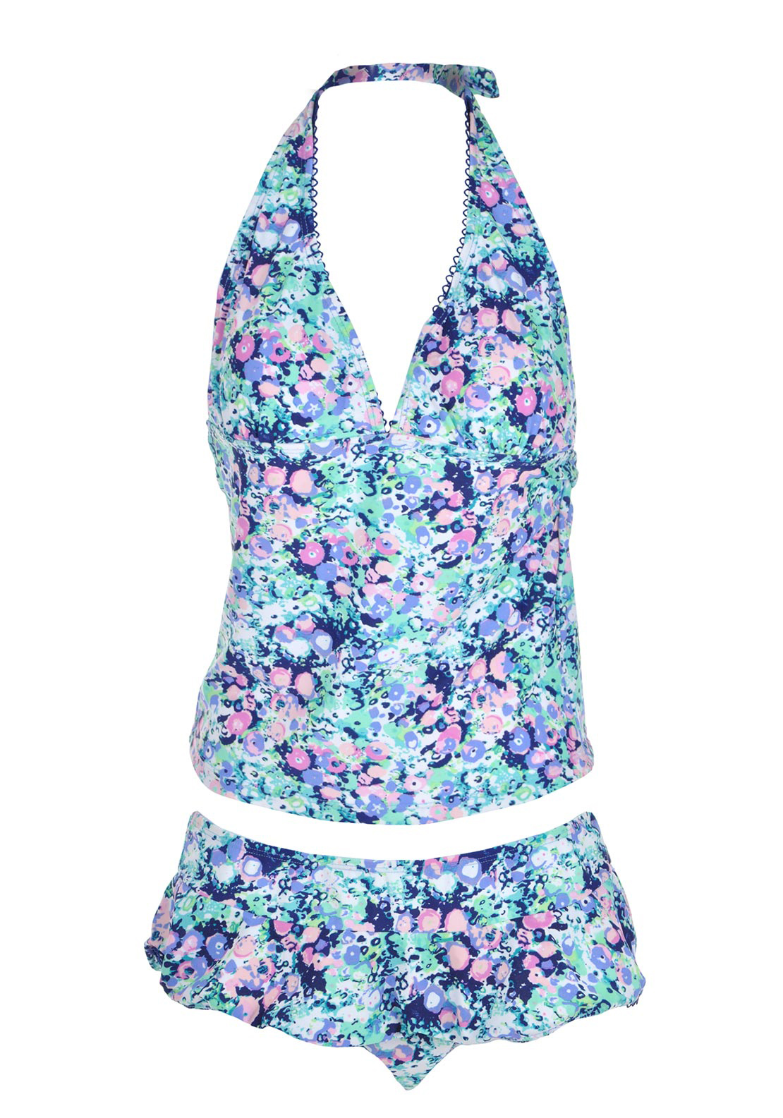 Hot Honi Floral Print Tankini Set, Multi-Coloured