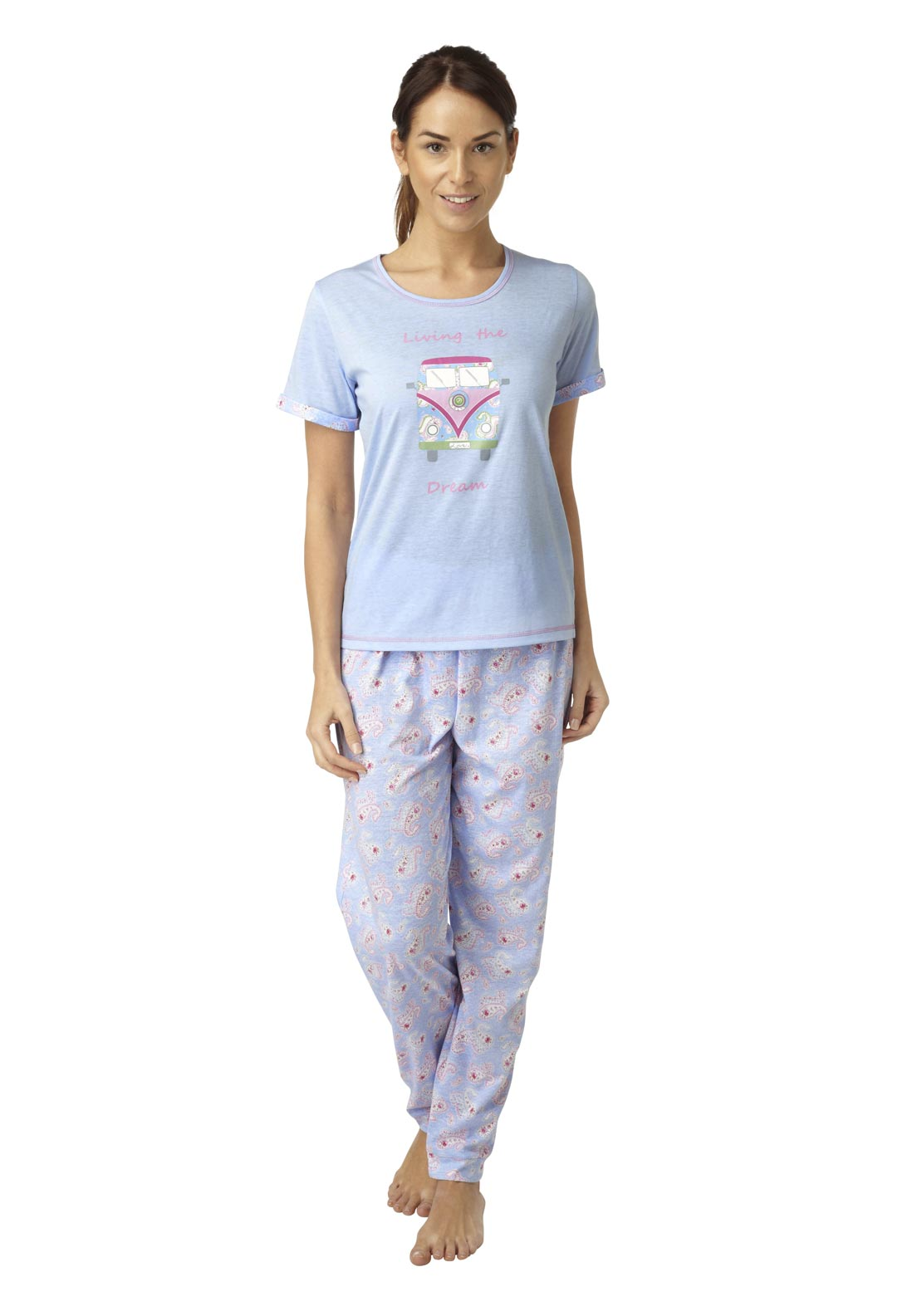 Indigo Sky Love Van Pyjama Set, Blue