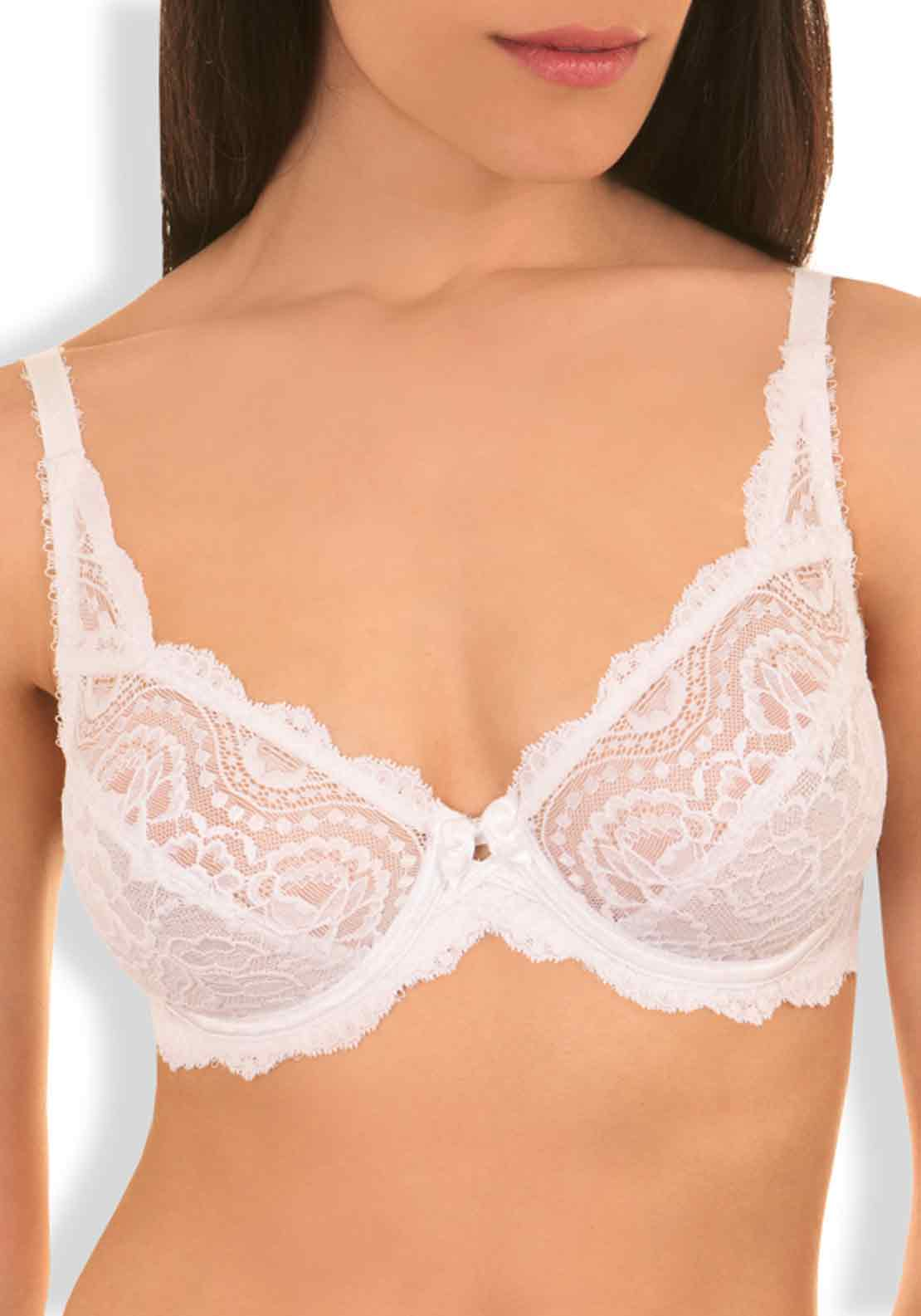 Playtex Flower Elegance Lace Underwired Bra, White