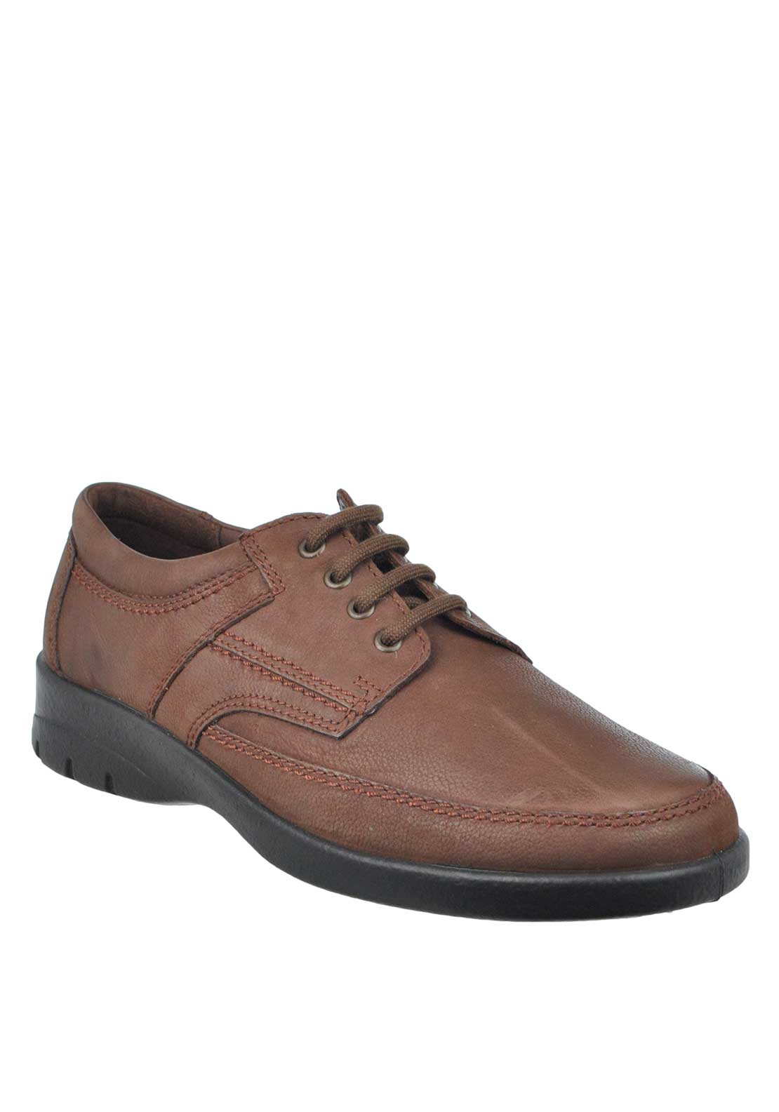 Padders George Lace Up Leather Shoe, Brown