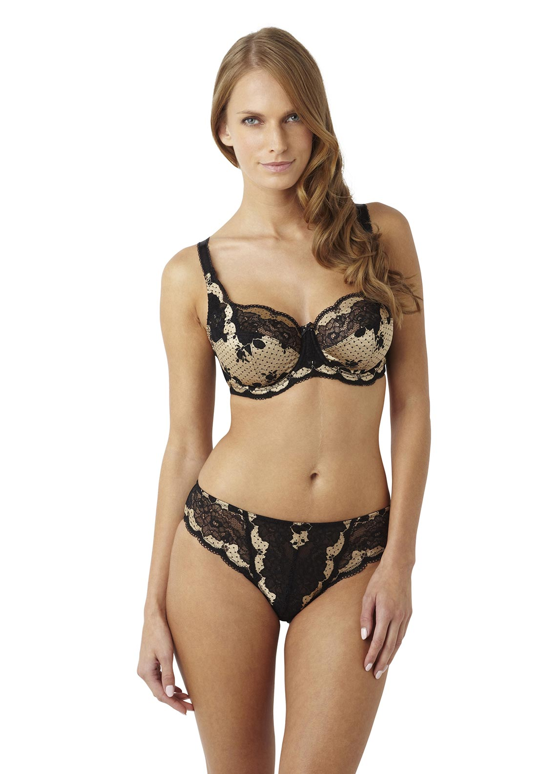 Panache Clara Brief, Black & Gold