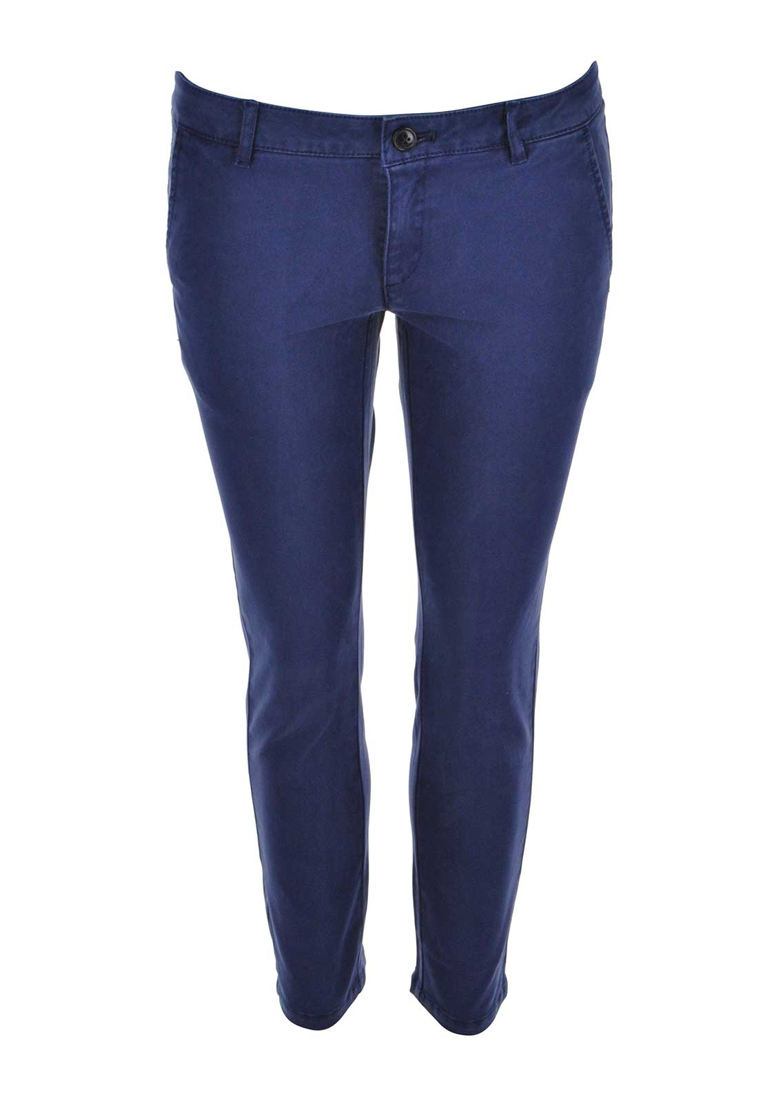 Silvian Heach 7/8 Cotton Chinos, Navy