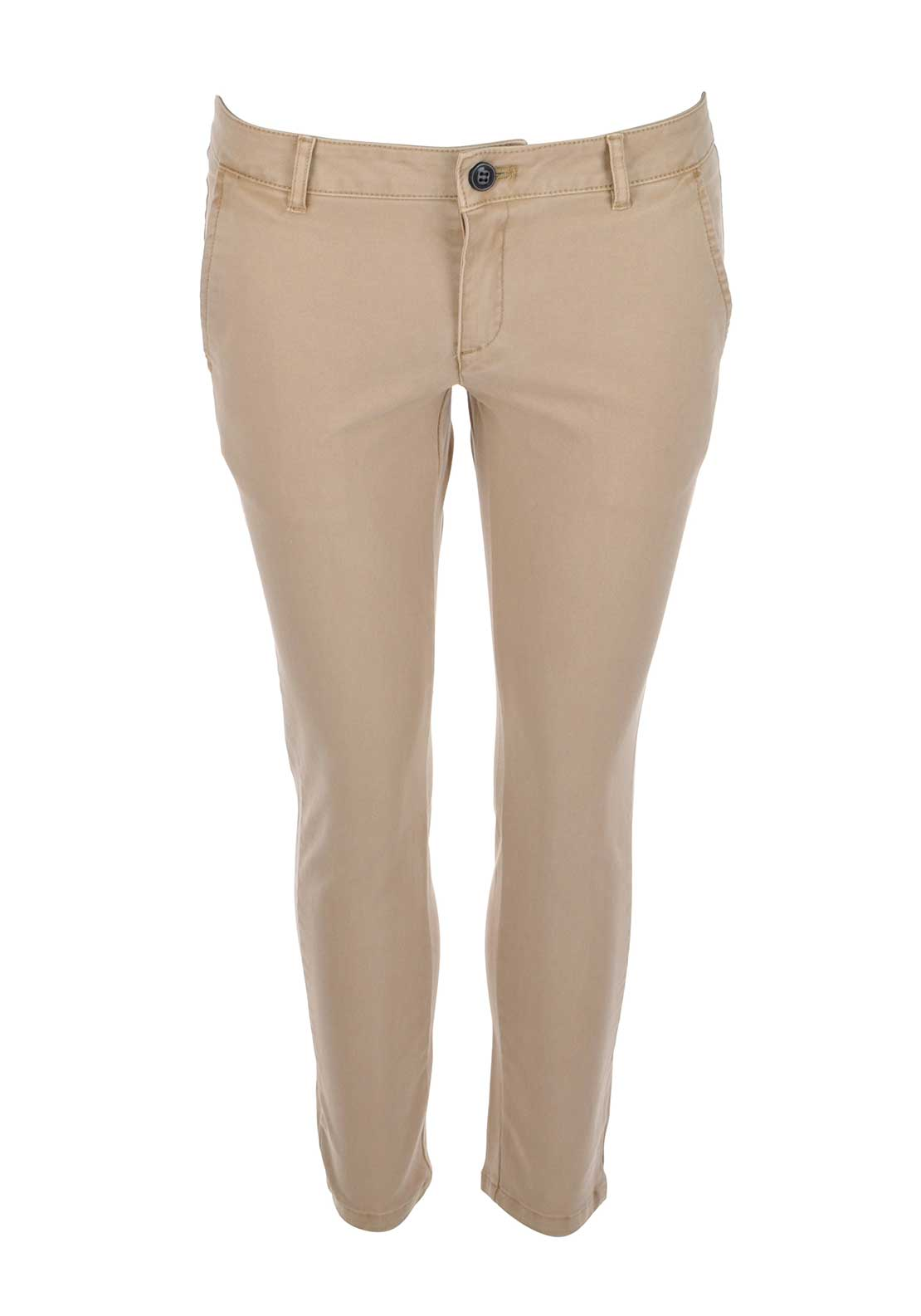 Silvian Heach 7/8 Cotton Chinos, Beige