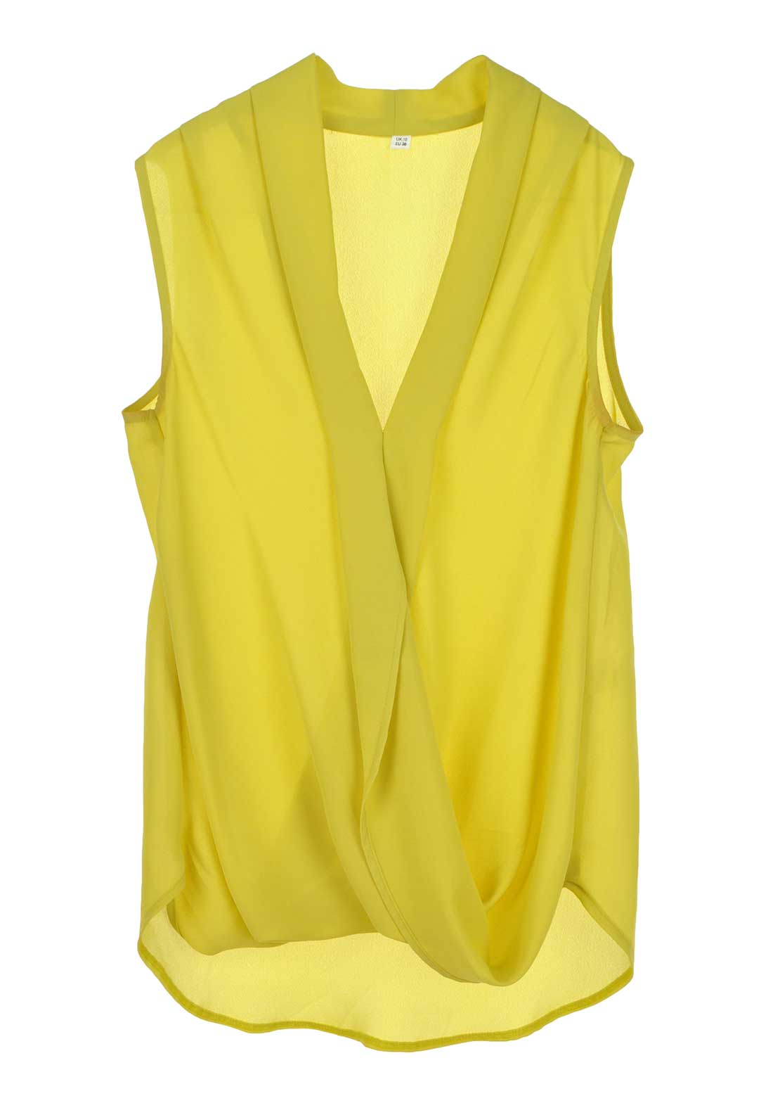Boutique Sleeveless V-Neck Blouse, Mustard