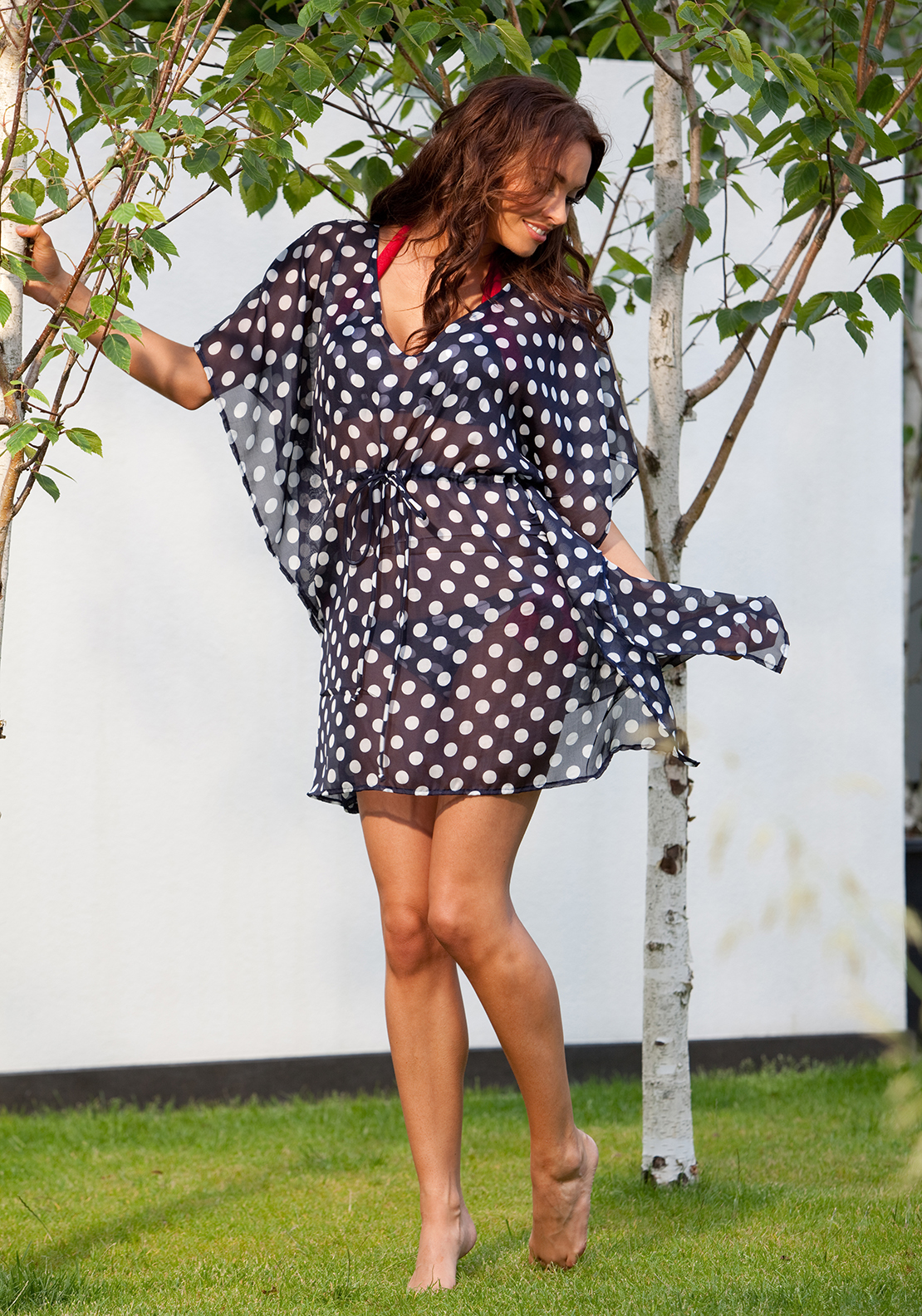 Pour Moi? Ahoy Kaftan, Navy and White