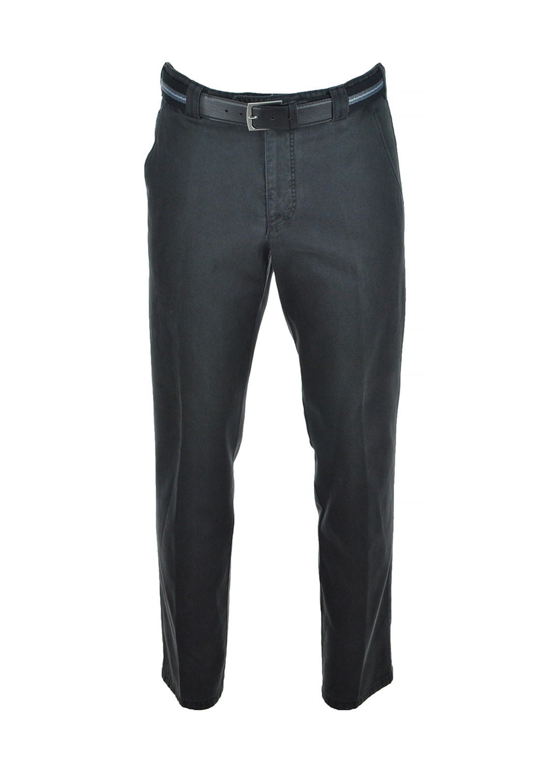 Meyer Mens Roma Cotton Stretch Trouser, Charcoal