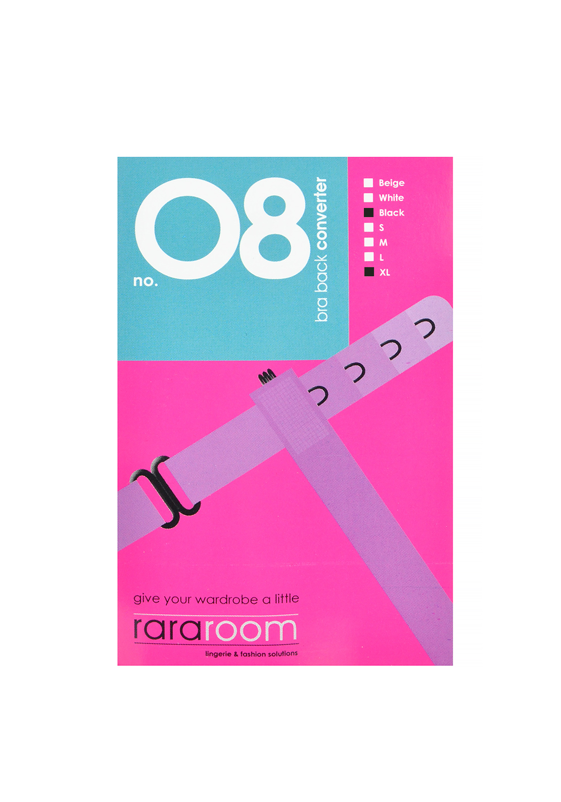 Rararoom No. 08 Bra Back Converter, Black
