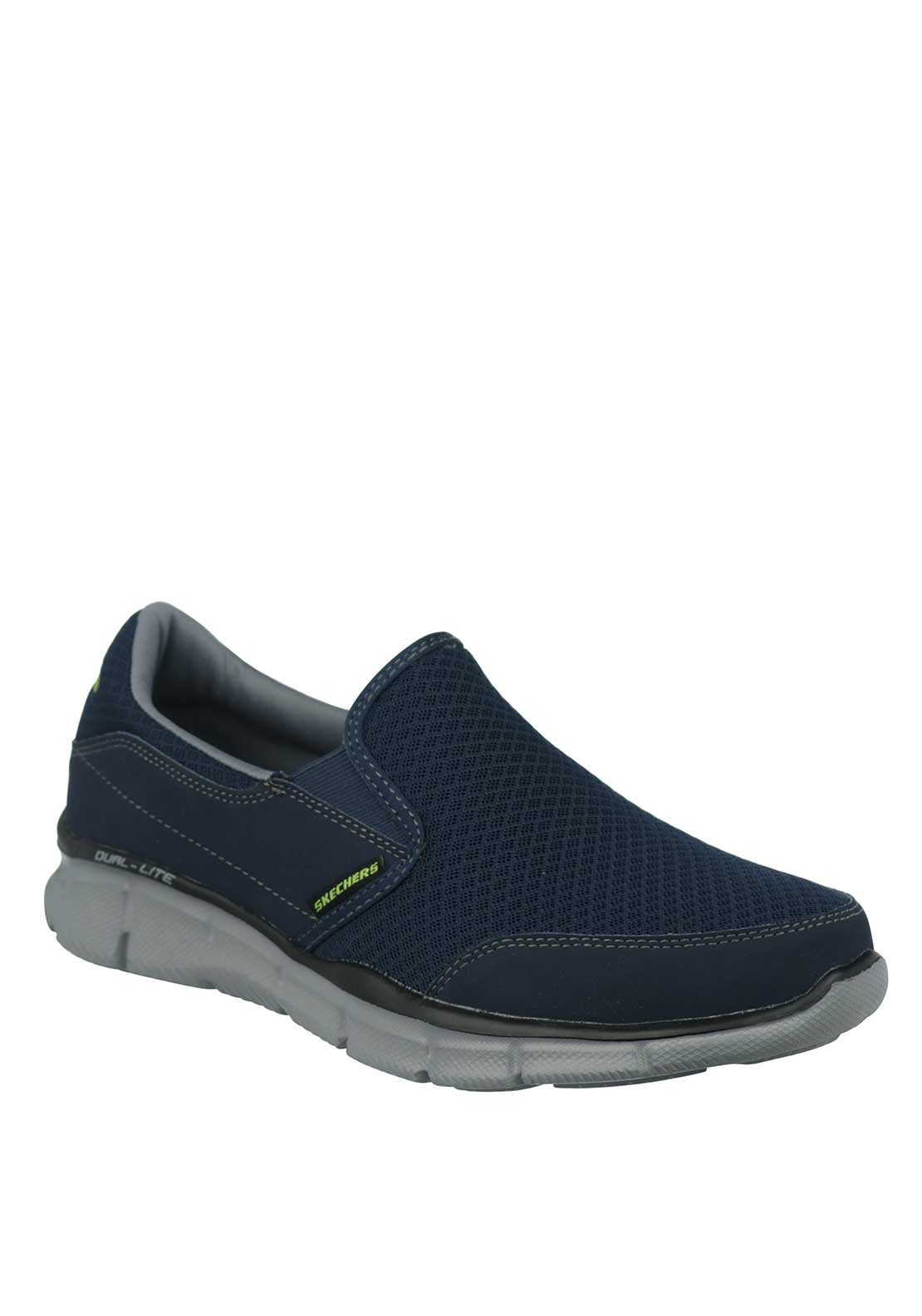 Skechers Mens Dual-Lite Slip on Trainers, Navy