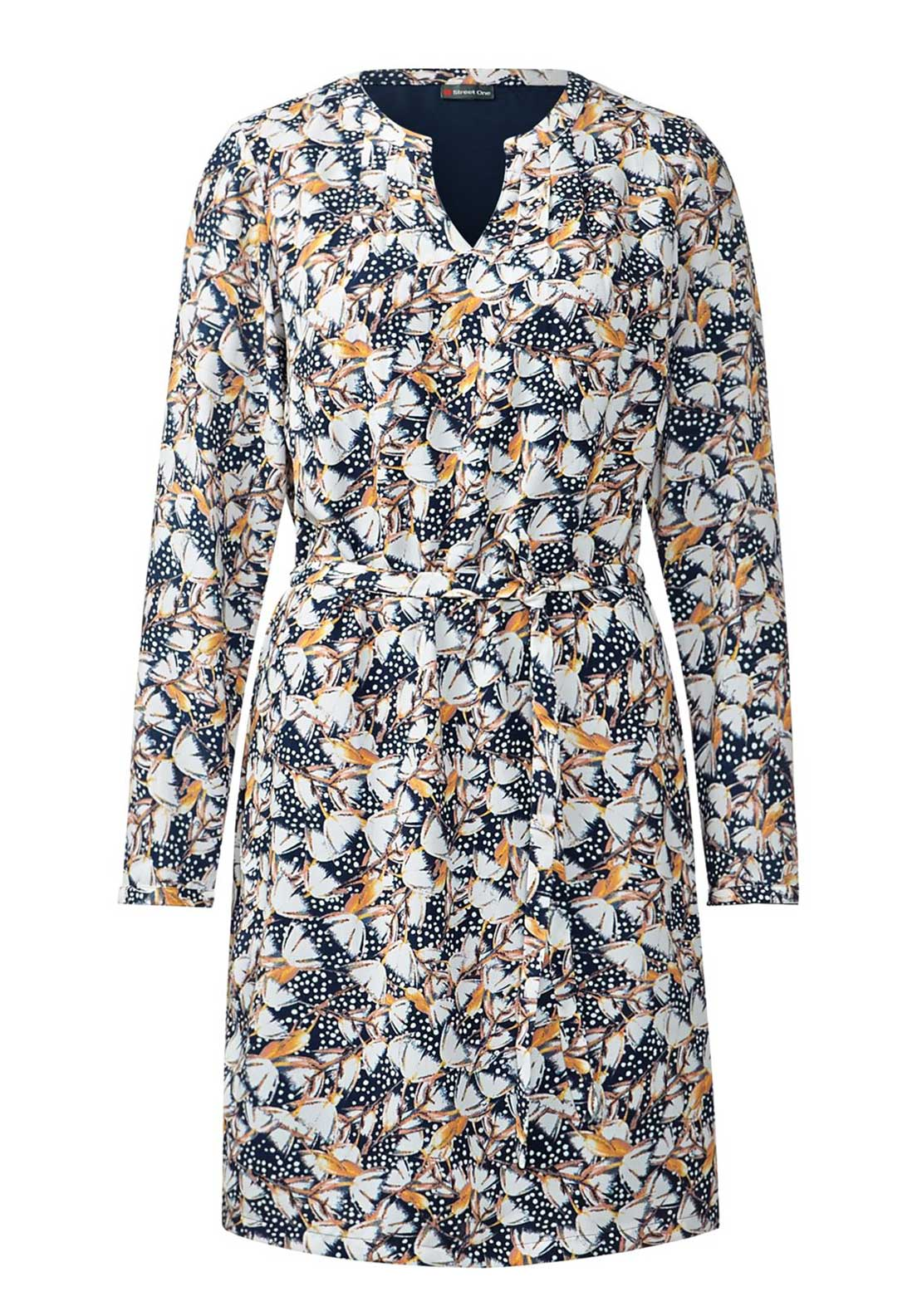 Street One Floral Print Long Sleeve Tunic Dress, Multi-Coloured