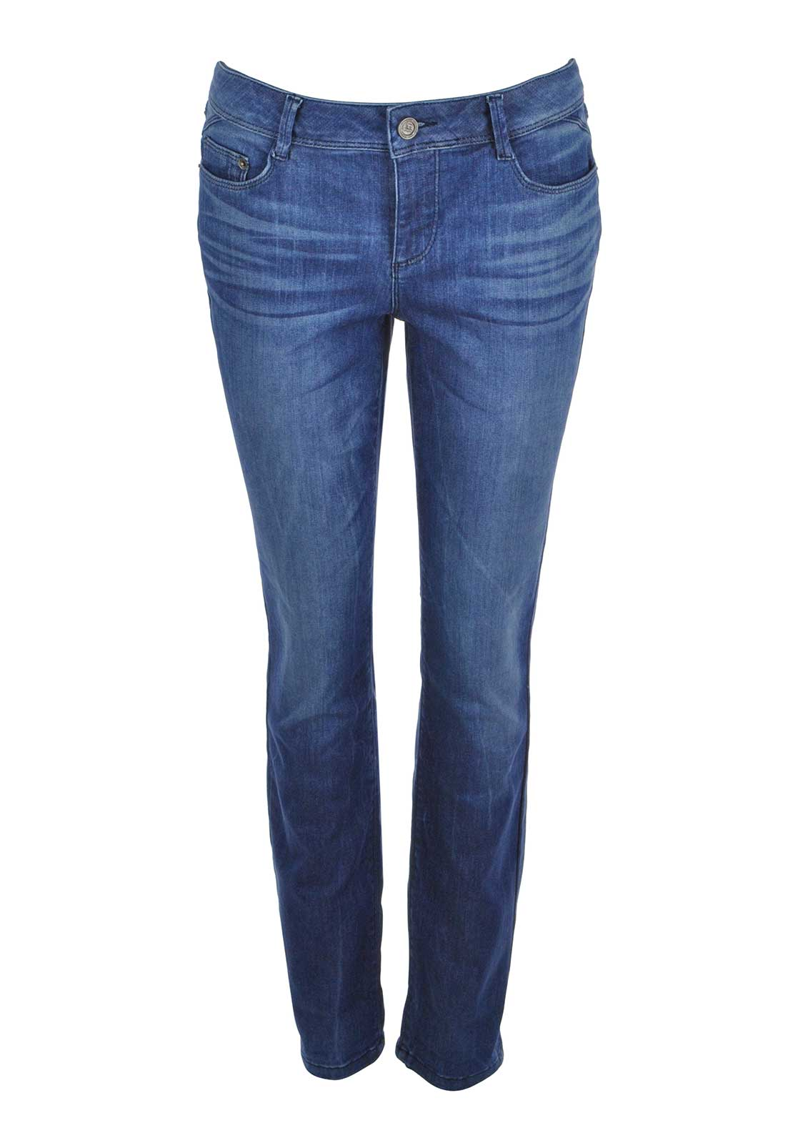 Street One Jane Washed Slim Leg Jeans, Mid Blue