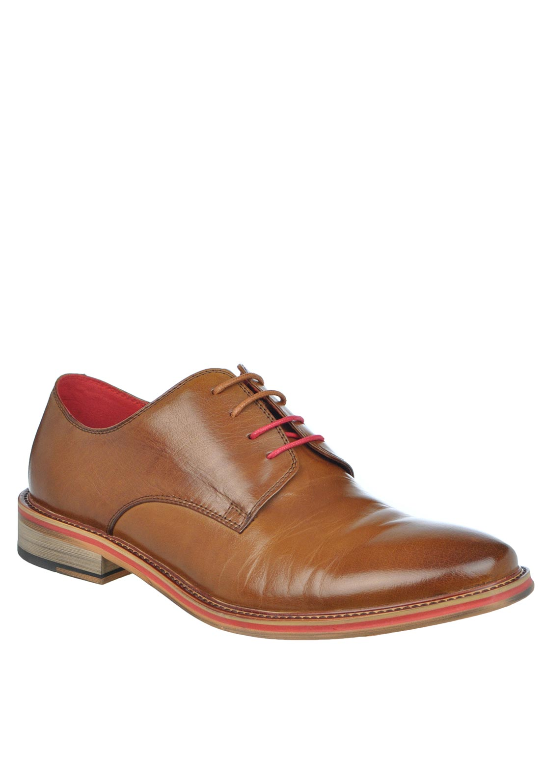 Justin Reece Alfred Lace Up Leather Shoe, Brown