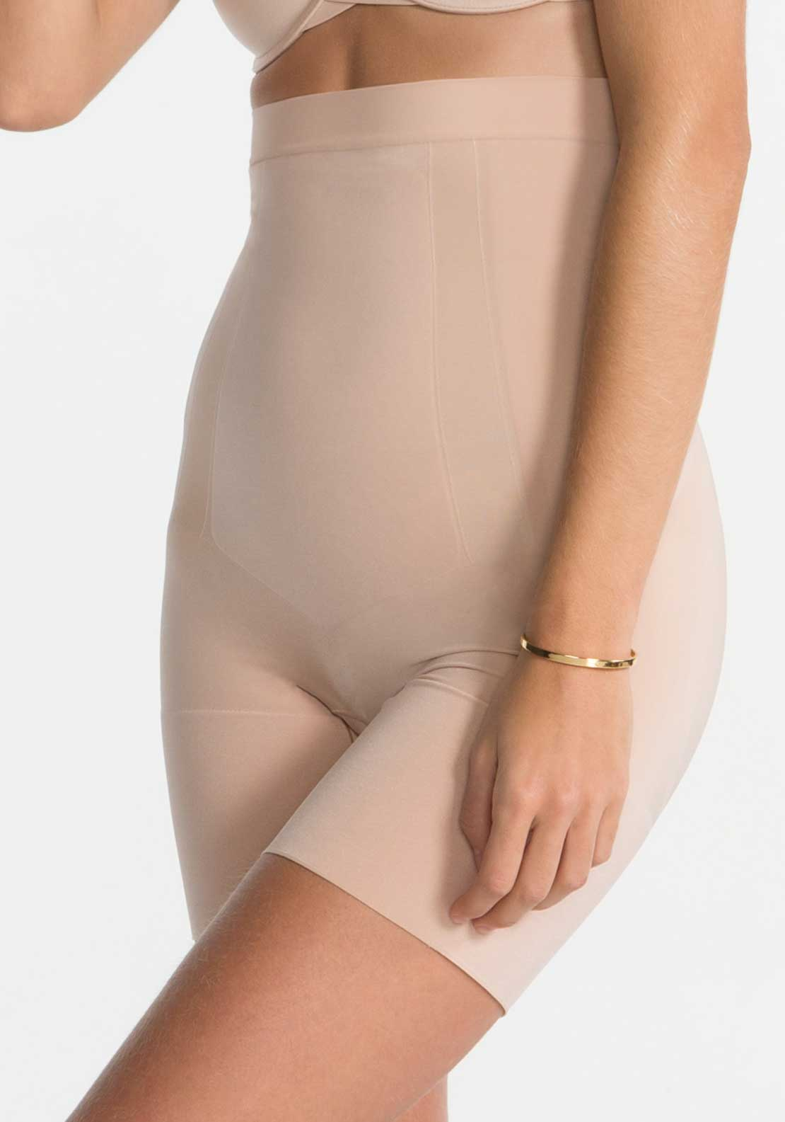 Spanx Oncore High Waisted Mid-Thigh Shorts, Soft Nude