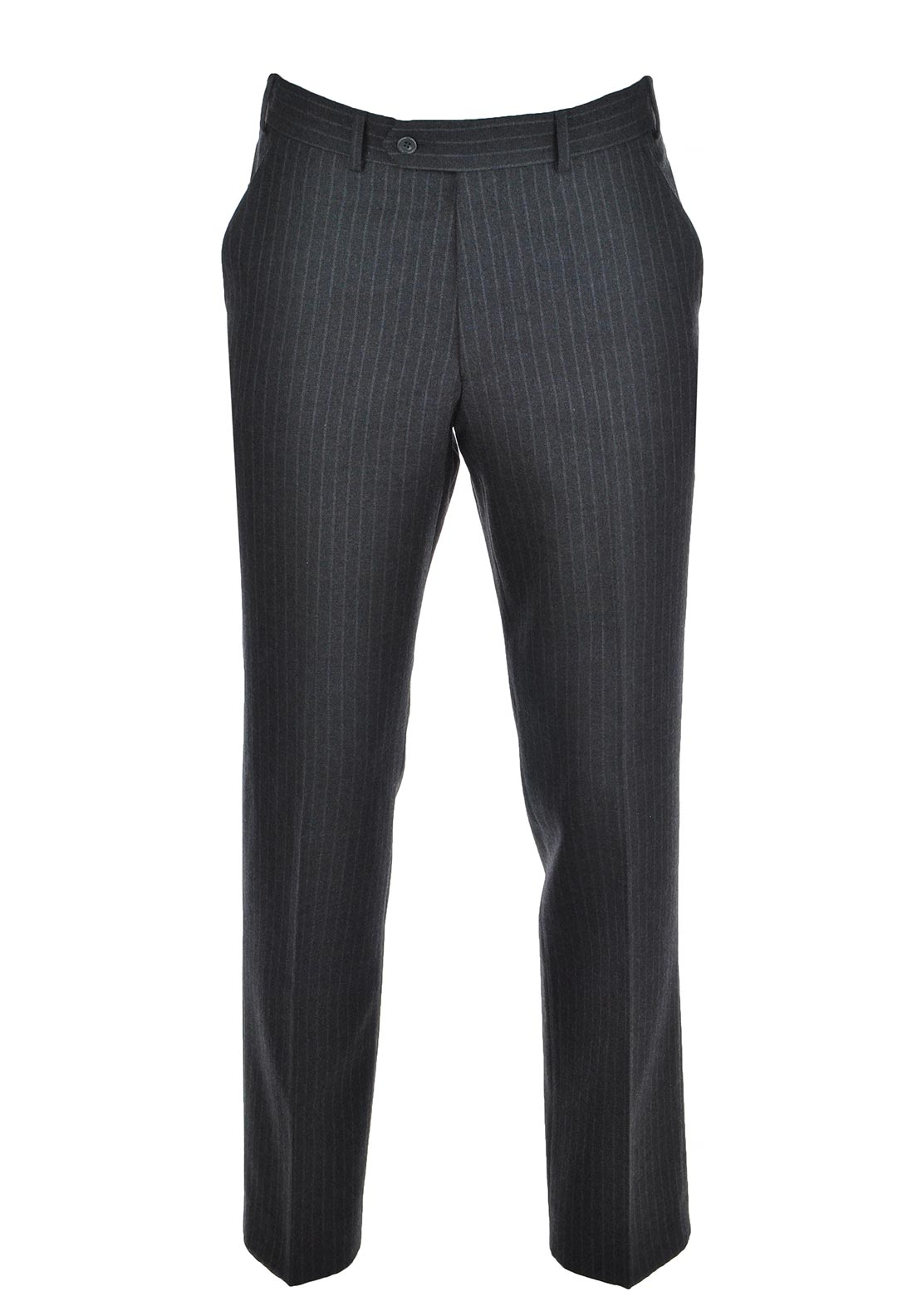 Magee Mens Nice Chalk Stripe Trouser, Charcoal