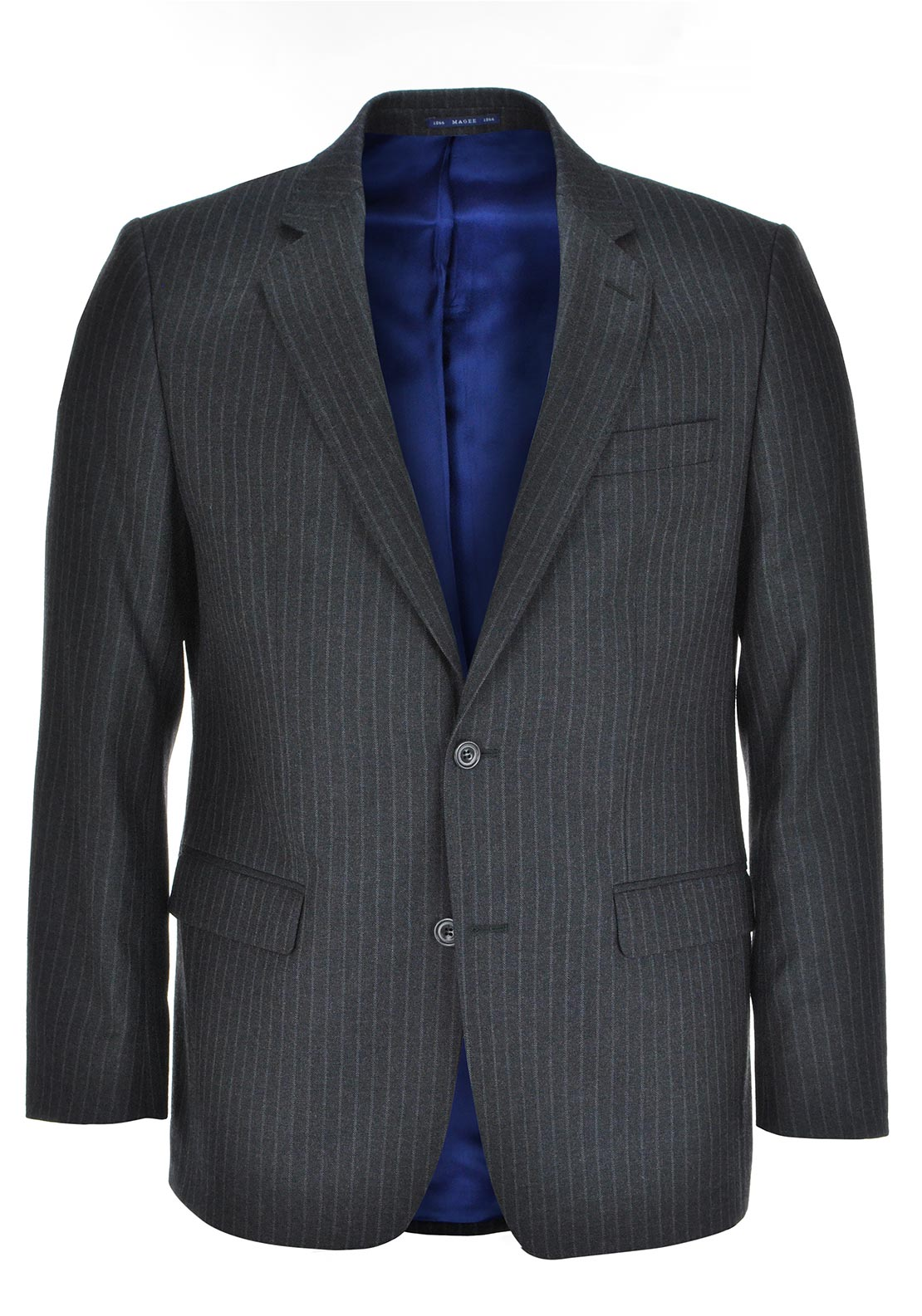 Magee Mens Nice Chalk Stripe Jacket, Charcoal