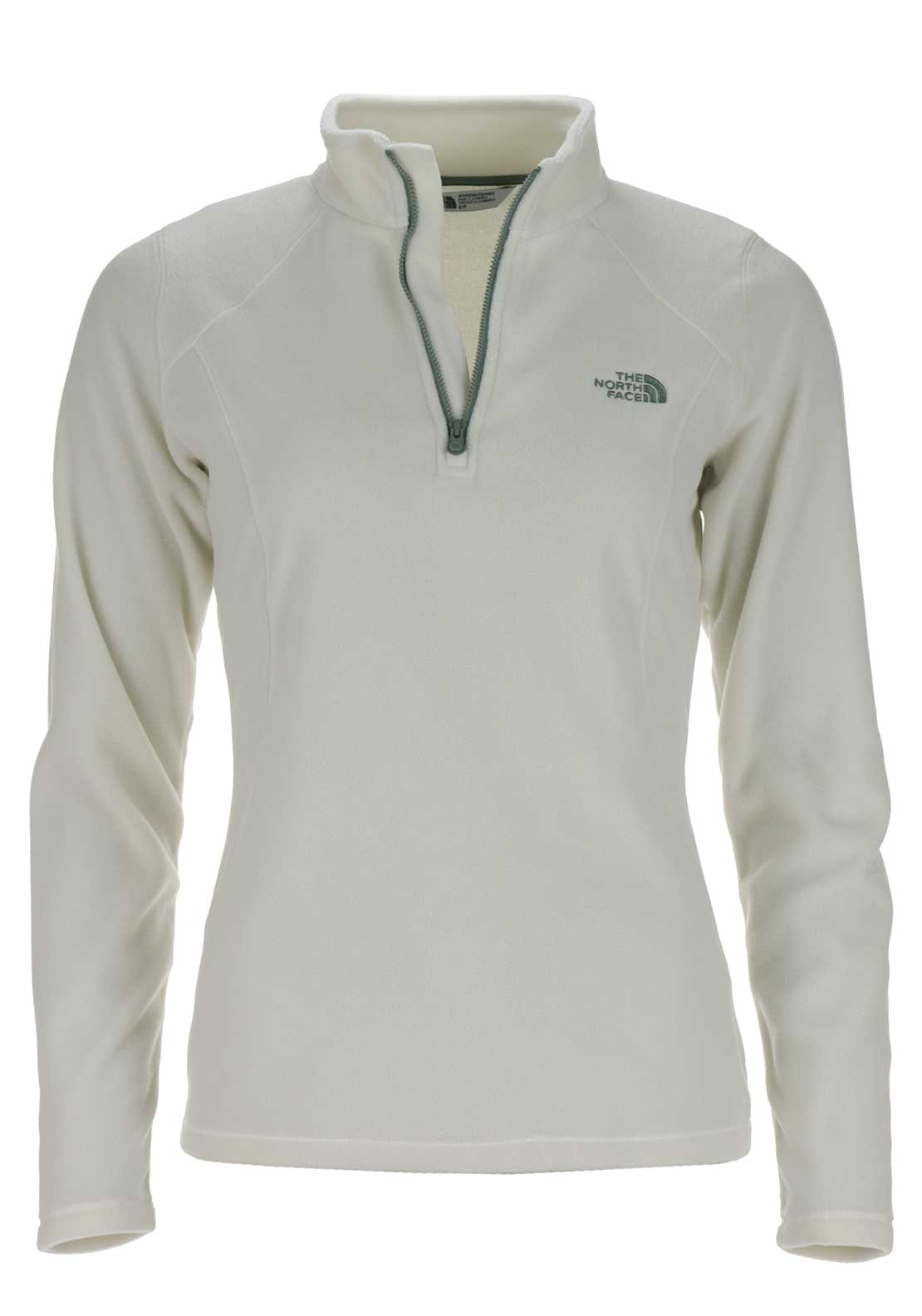 The North Face Womens 100 Glacier Half Zip Fleece, Vintage White