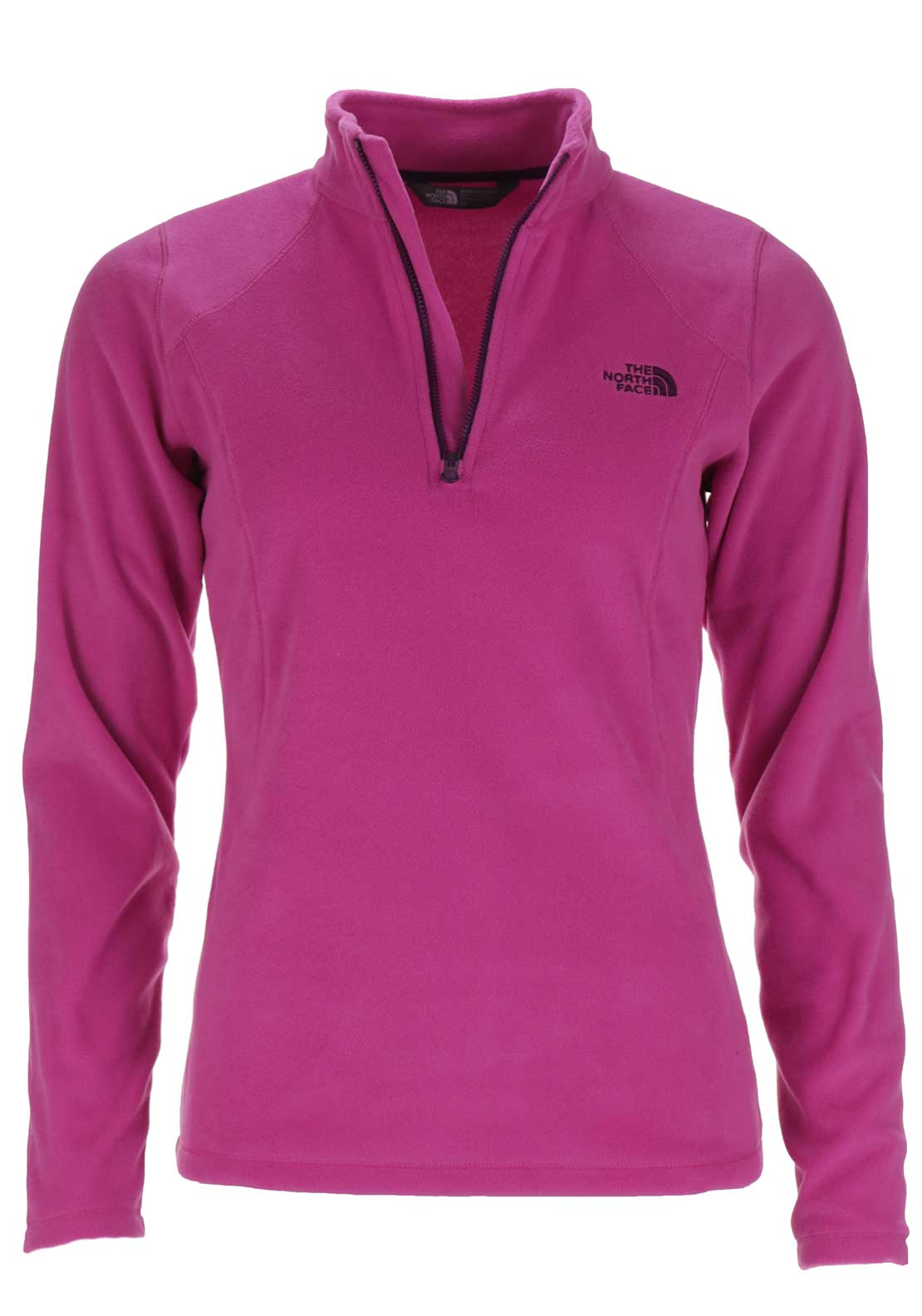 The North Face Womens 100 Glacier Half Zip Fleece, Raspberry Rose