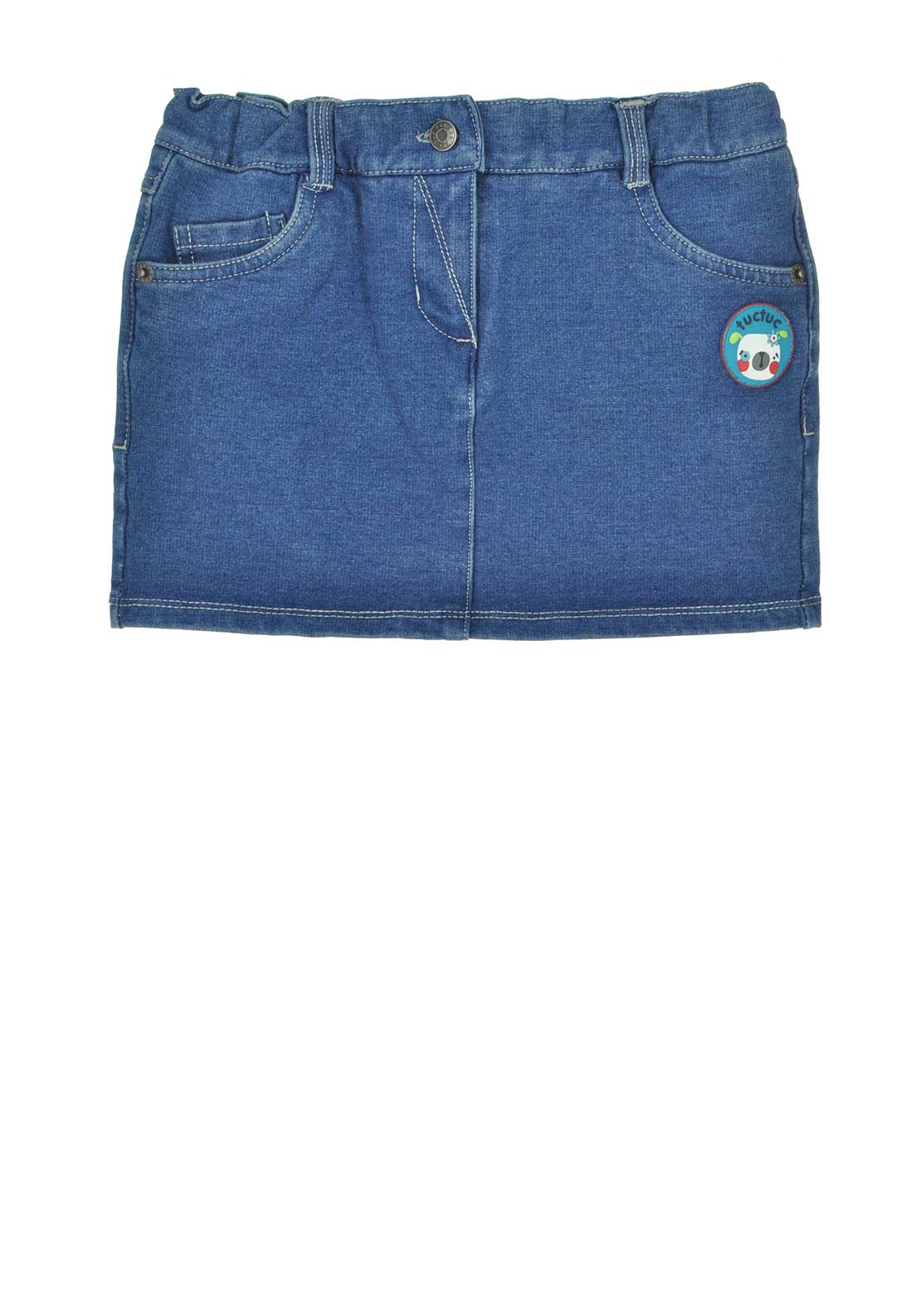 Tuc Tuc Girls Denim Skirt, Blue