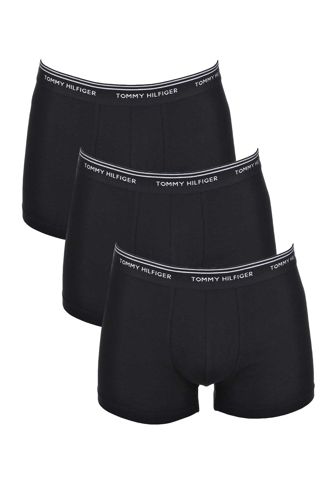 Tommy Hilfiger Mens Classic Stretch 3 Pack Boxer Short Trunks, Black
