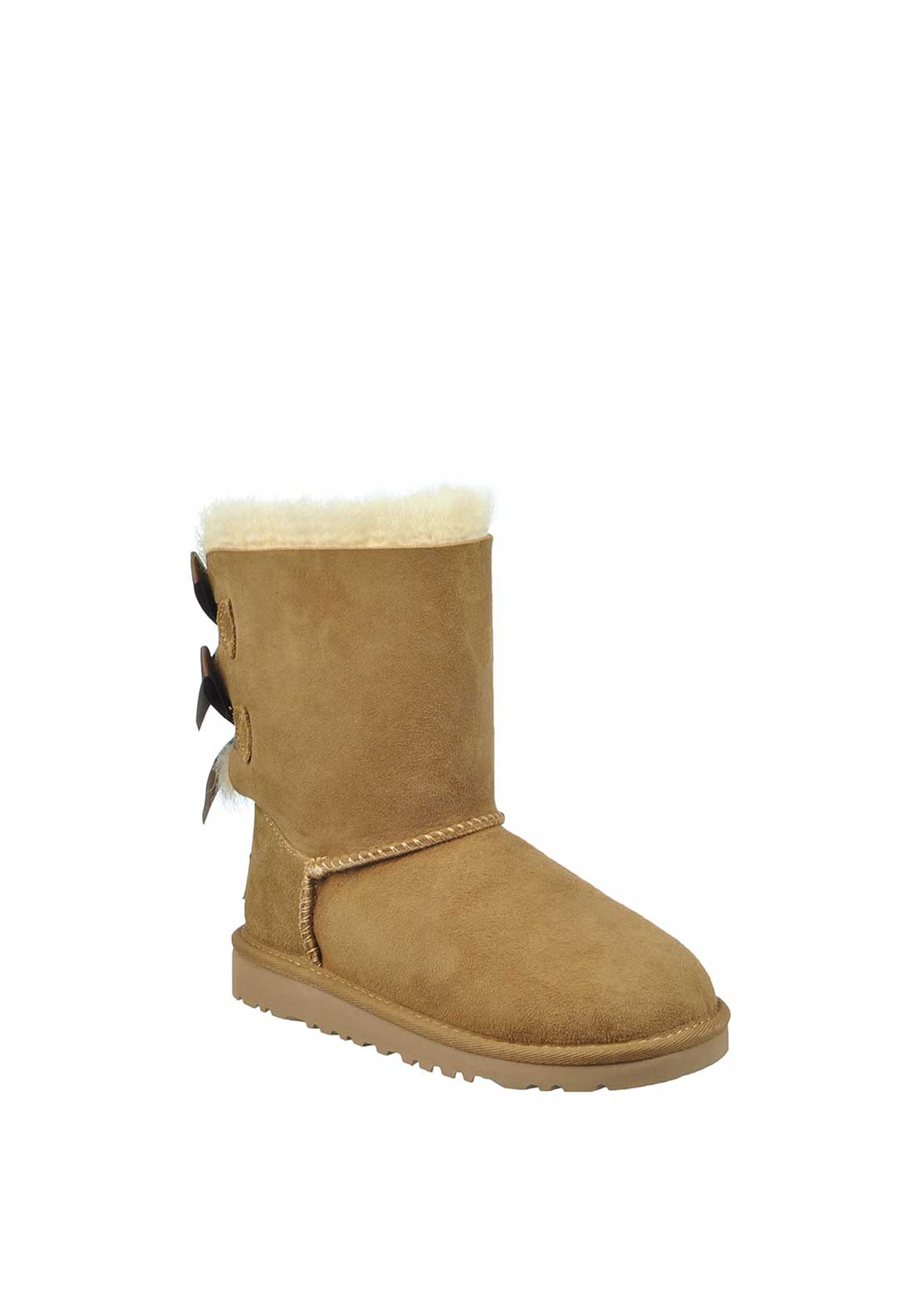 UGG Australia Infant Girls Suede Bailey Bow Boots, Chestnut